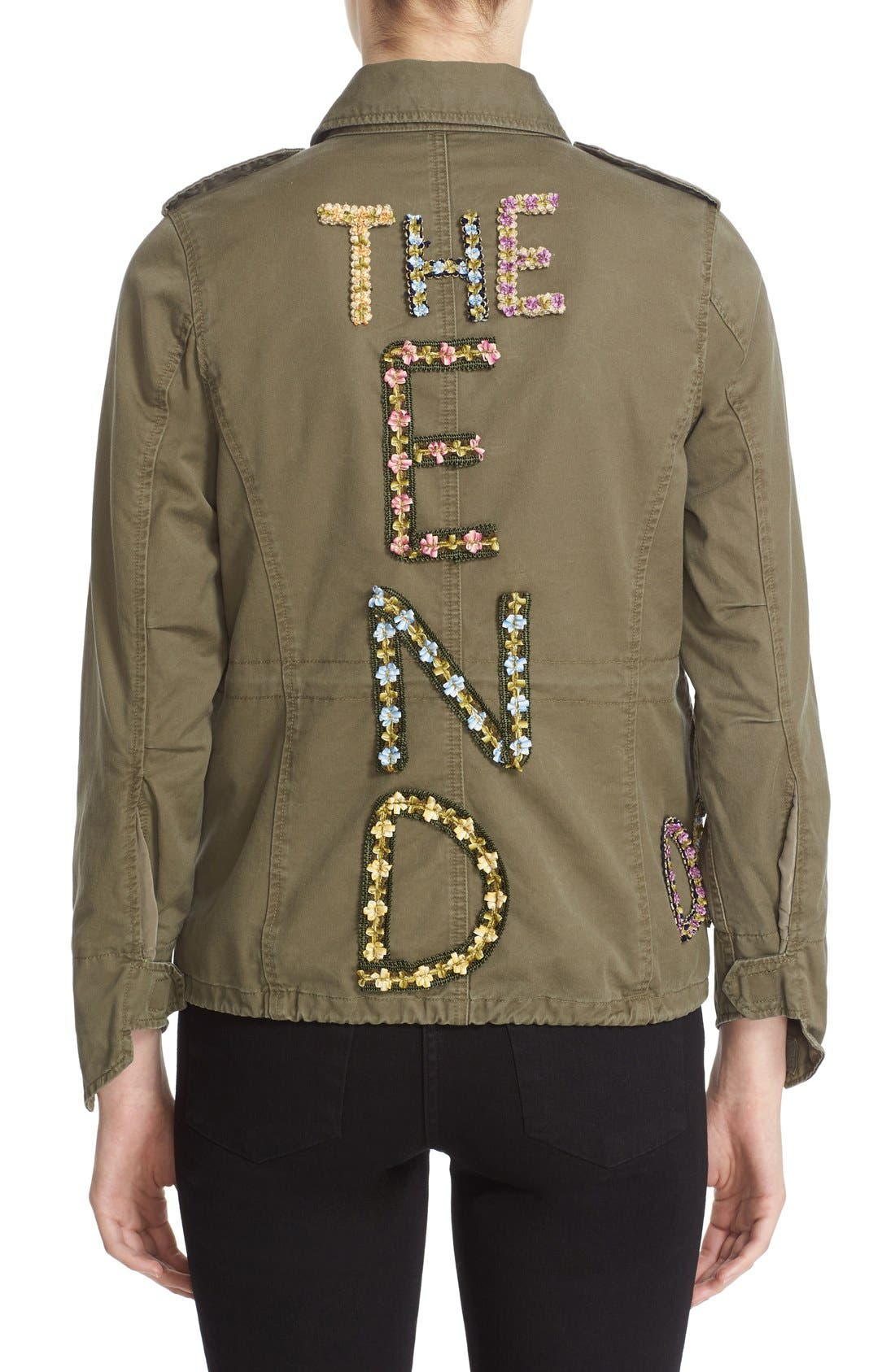 'The End' Embellished Military Jacket,                             Alternate thumbnail 3, color,                             250