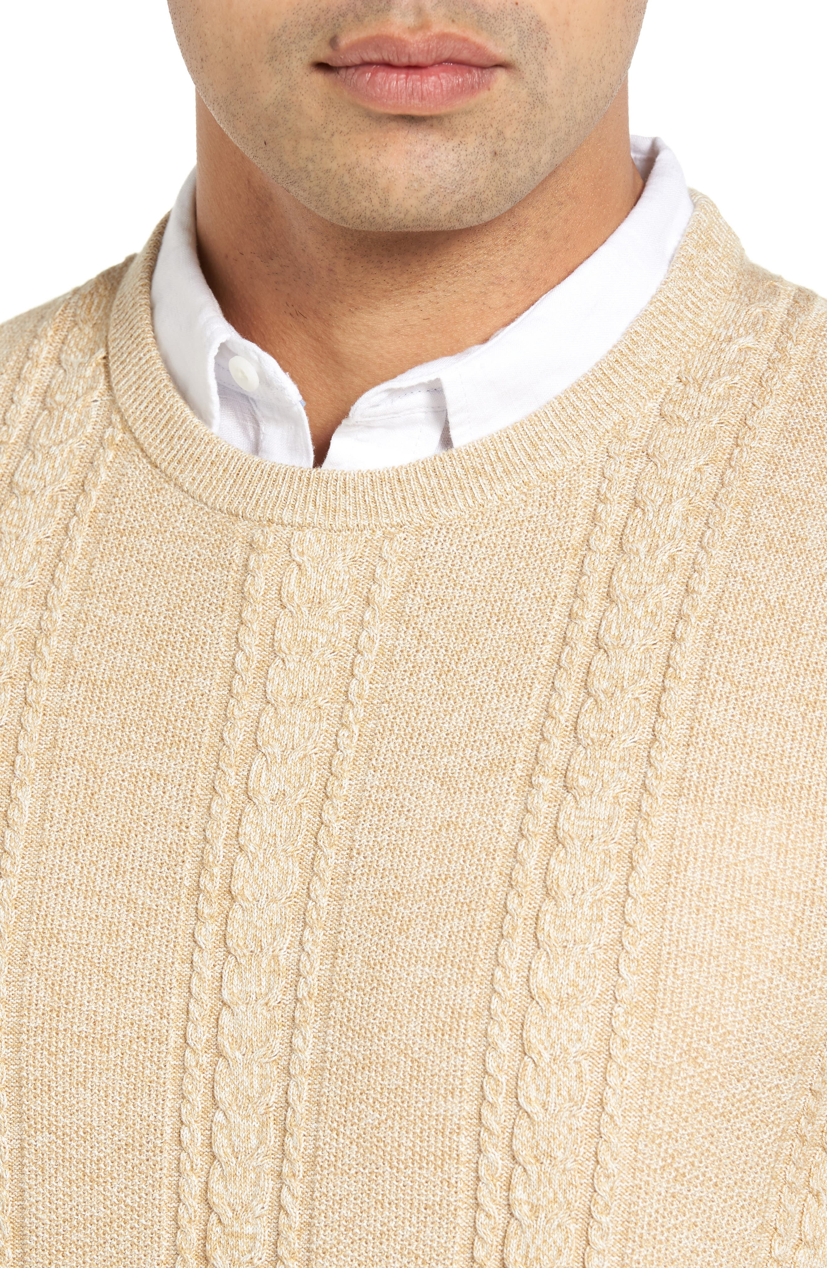 Marled Silk Blend Sweater,                             Alternate thumbnail 4, color,