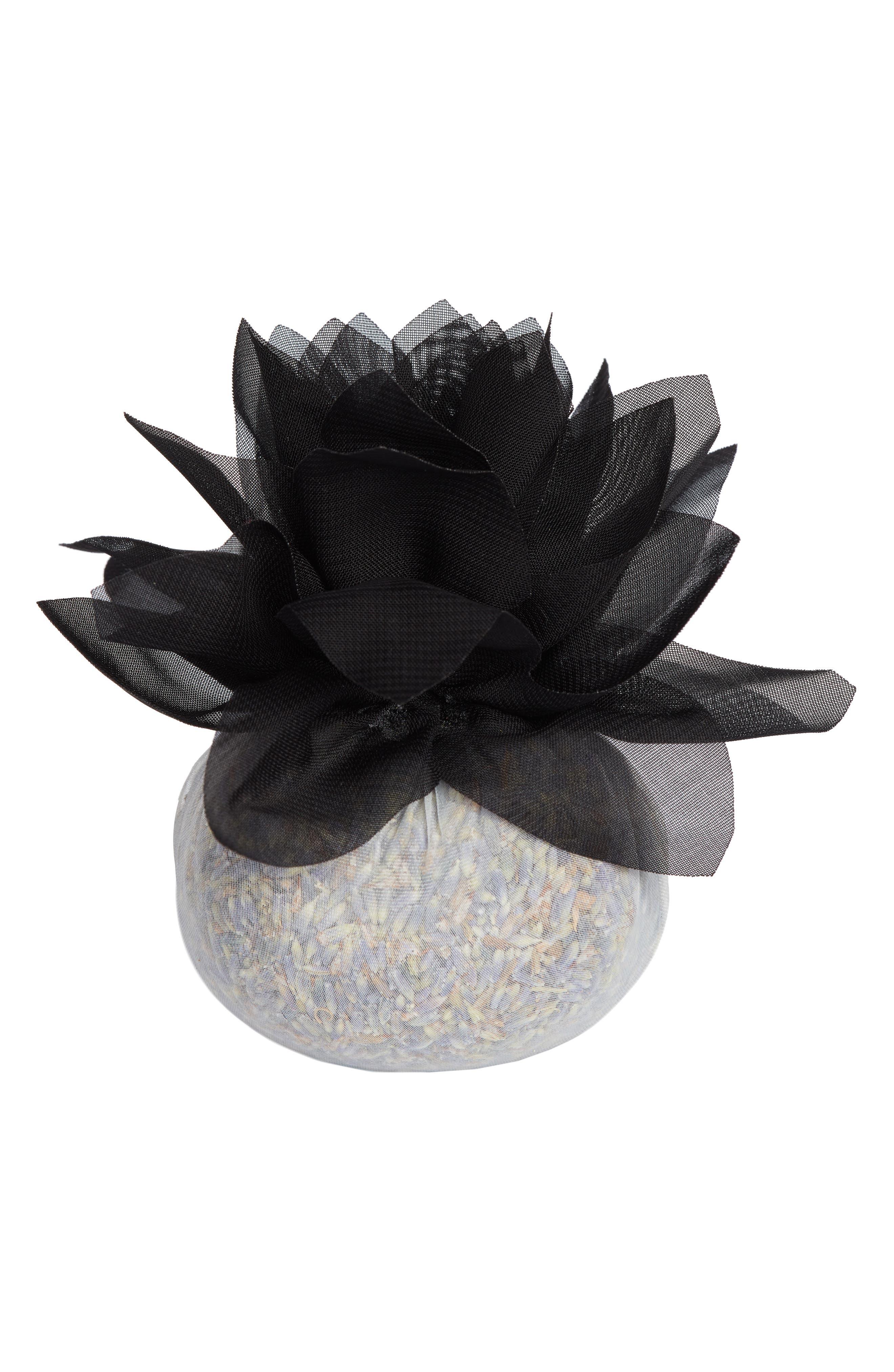 Stonehide Flower Sachet,                             Main thumbnail 1, color,                             BLACK