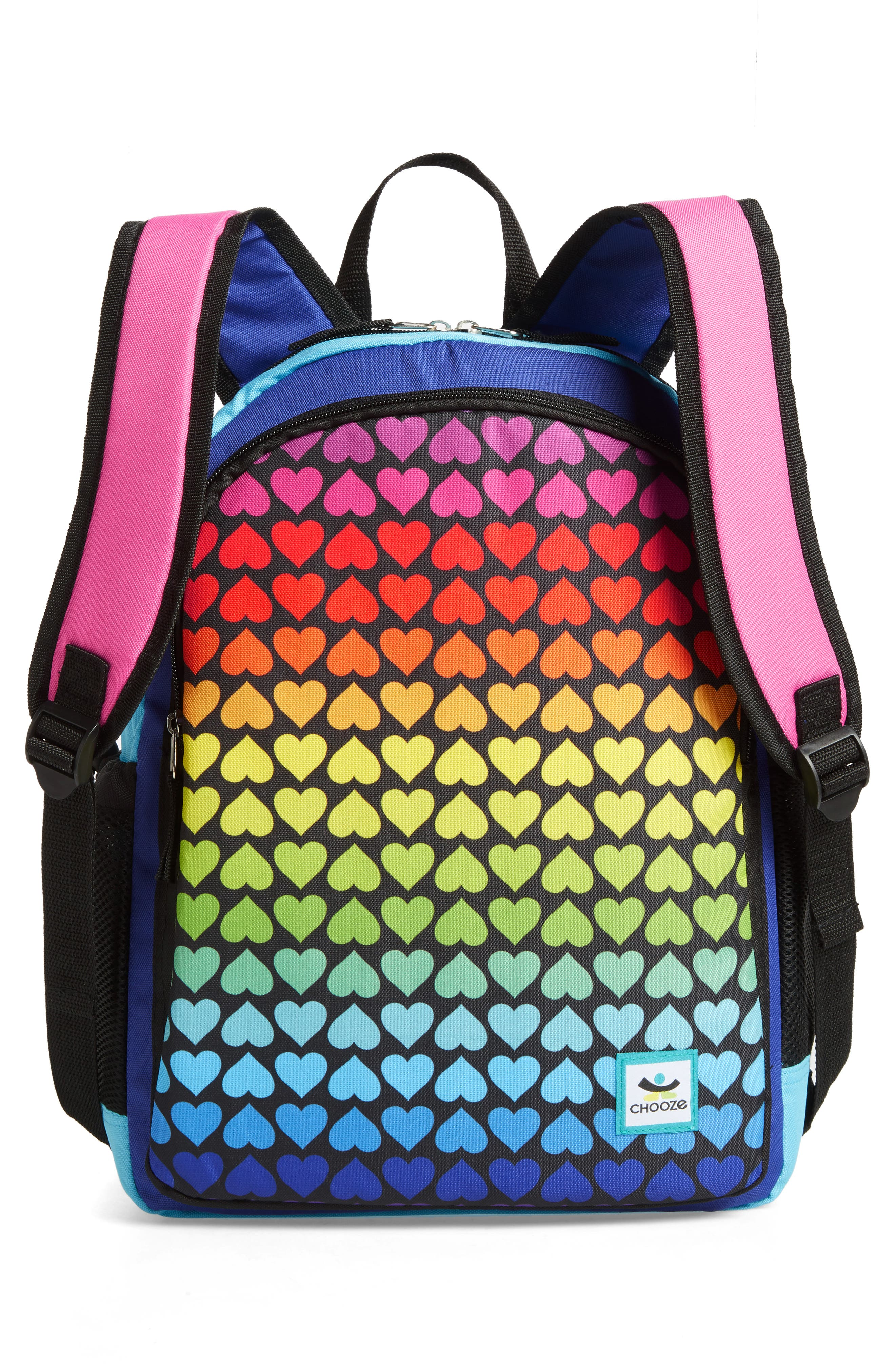 Hue Rainbow Reversible Backpack,                             Alternate thumbnail 3, color,                             001