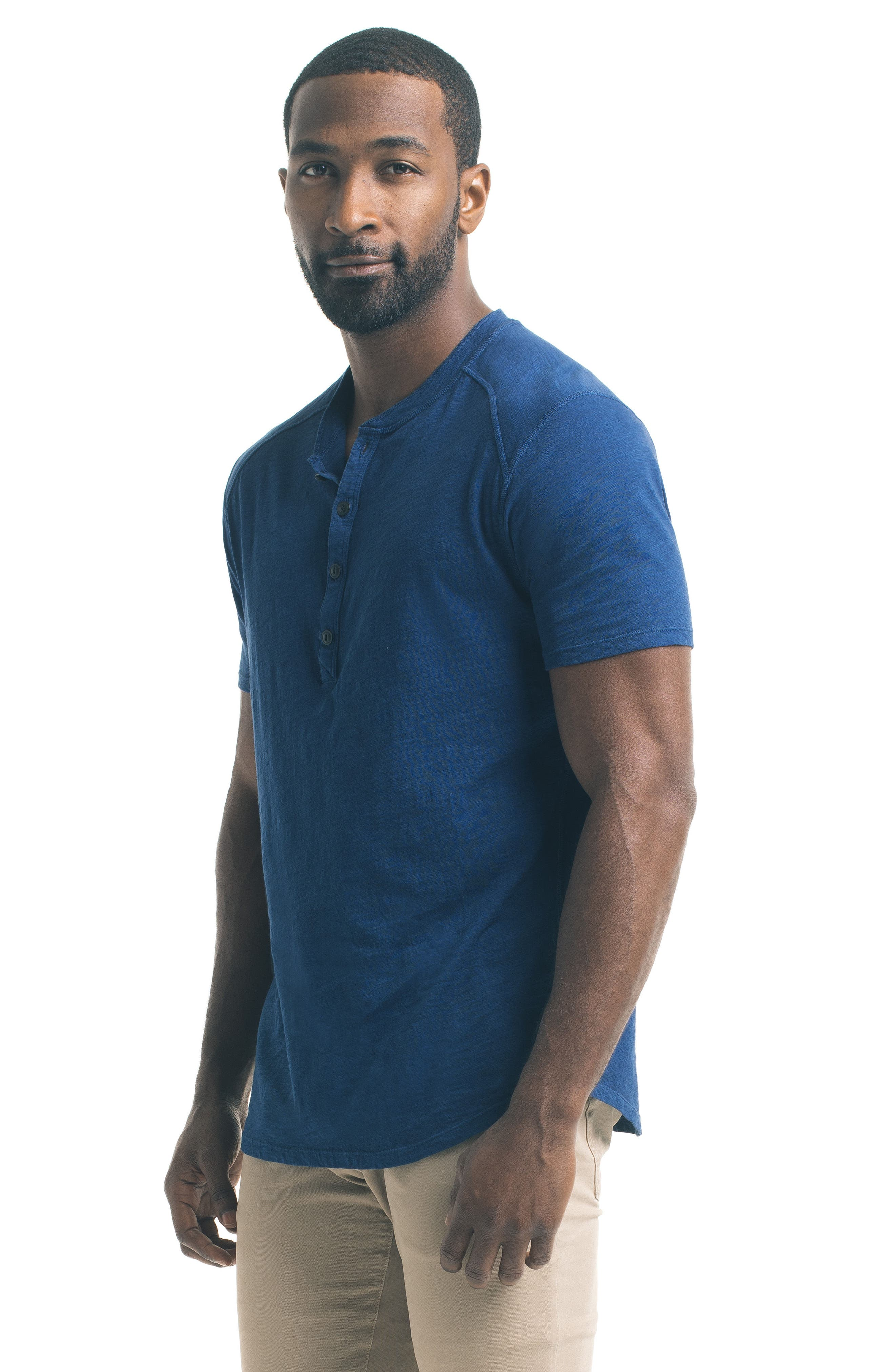 Short Sleeve Slub Henley,                             Alternate thumbnail 28, color,