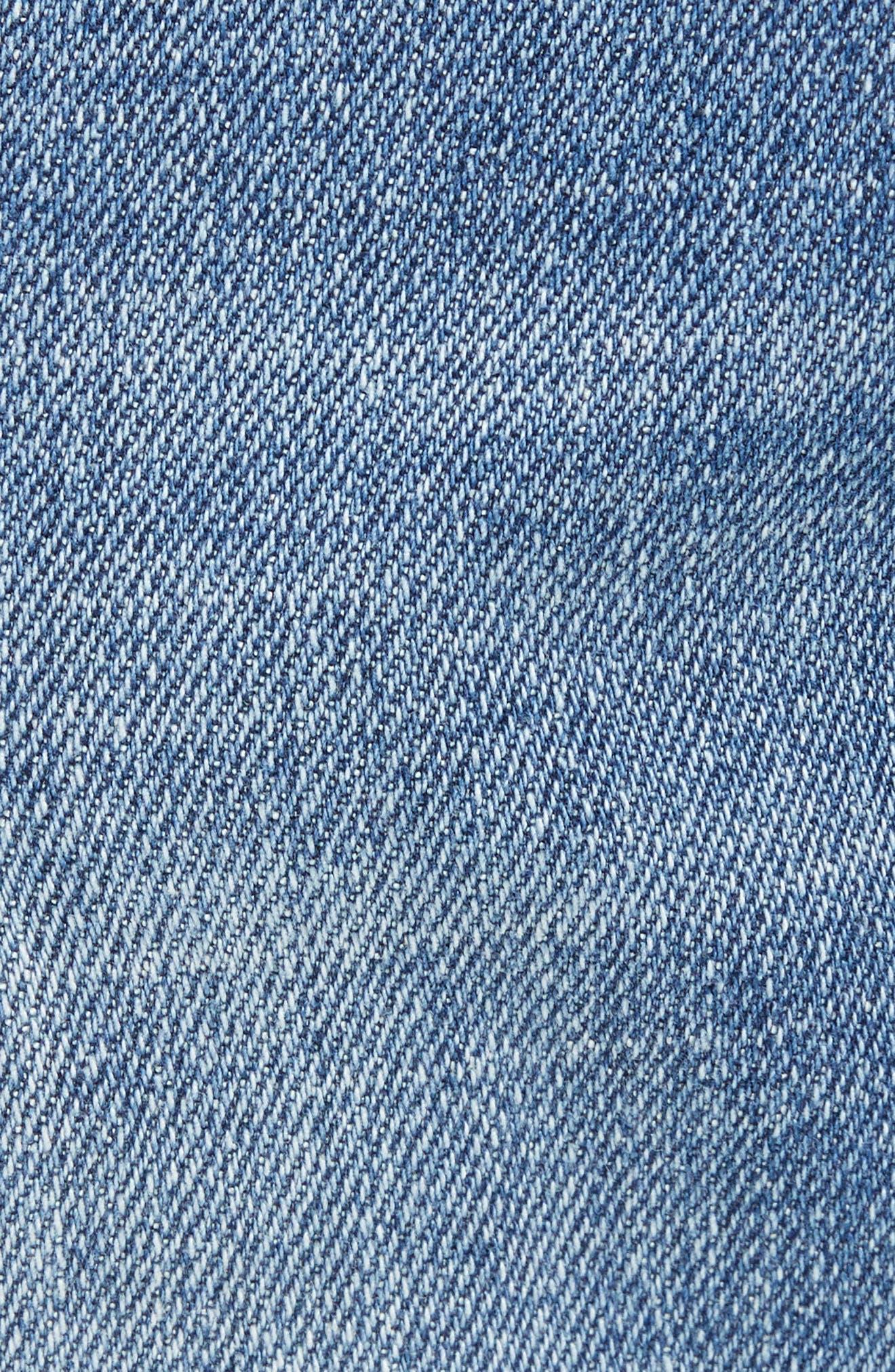 Rip & Repair Stretch Slim Jeans,                             Alternate thumbnail 5, color,                             BLUE HETFIELD WASH