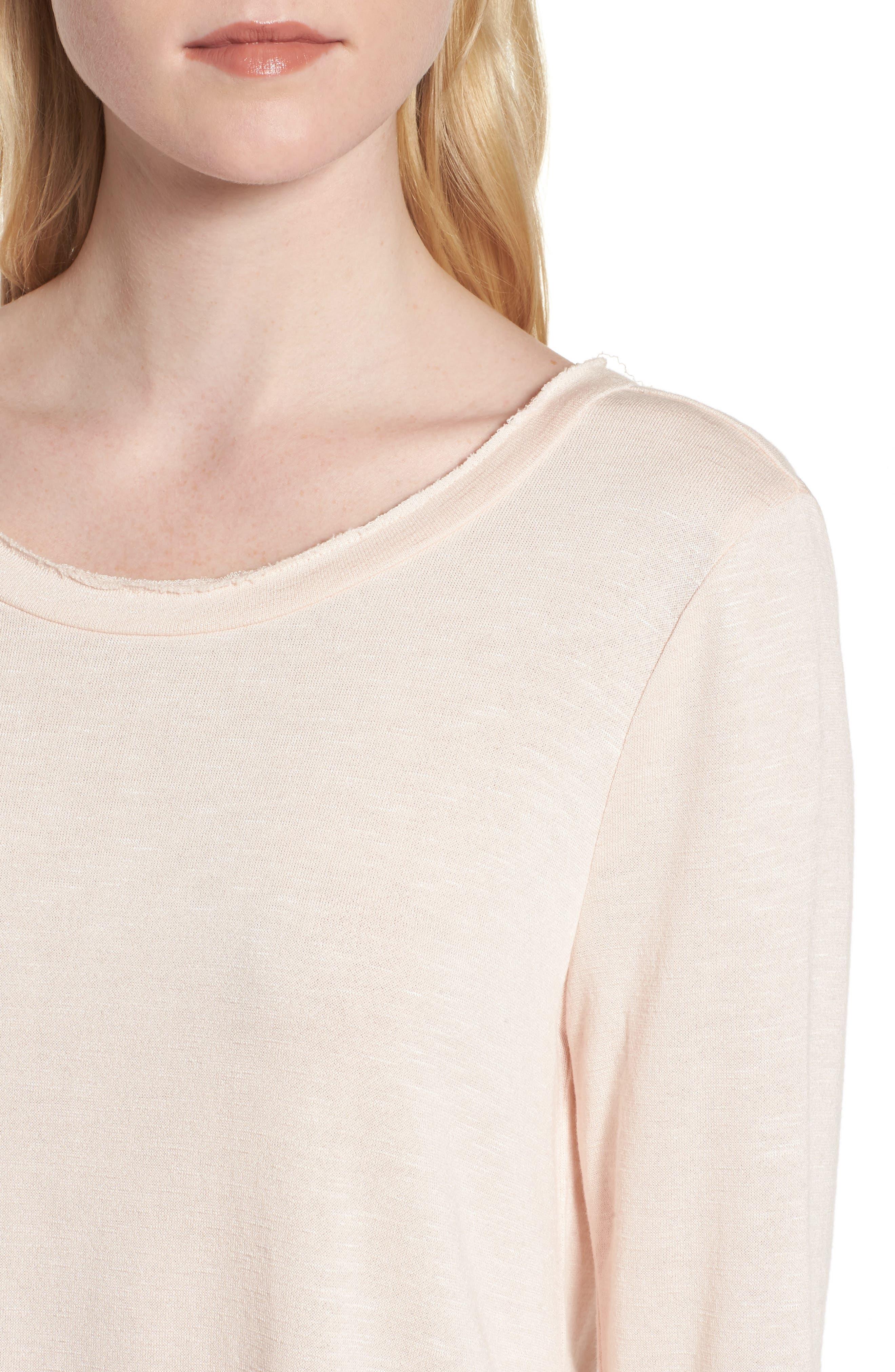 Ruffle Back Sweatshirt,                             Alternate thumbnail 18, color,