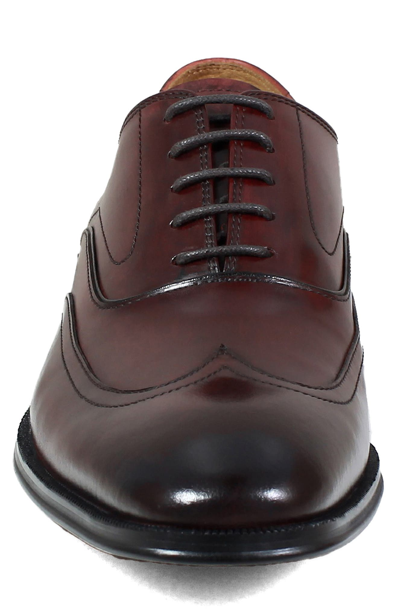 Belfast Wingtip,                             Alternate thumbnail 4, color,                             BURGUNDY LEATHER