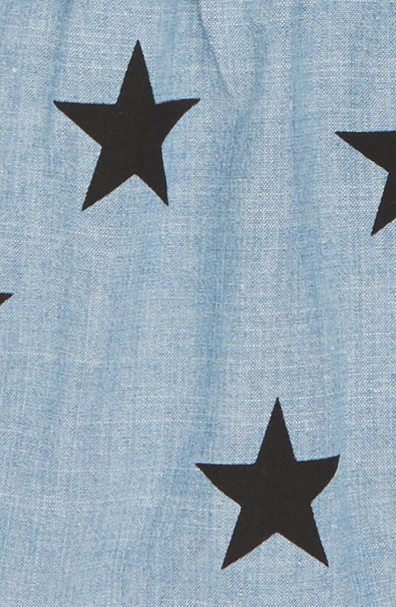Star Chambray Top & Shorts Set,                             Alternate thumbnail 3, color,                             CHAMBRAY