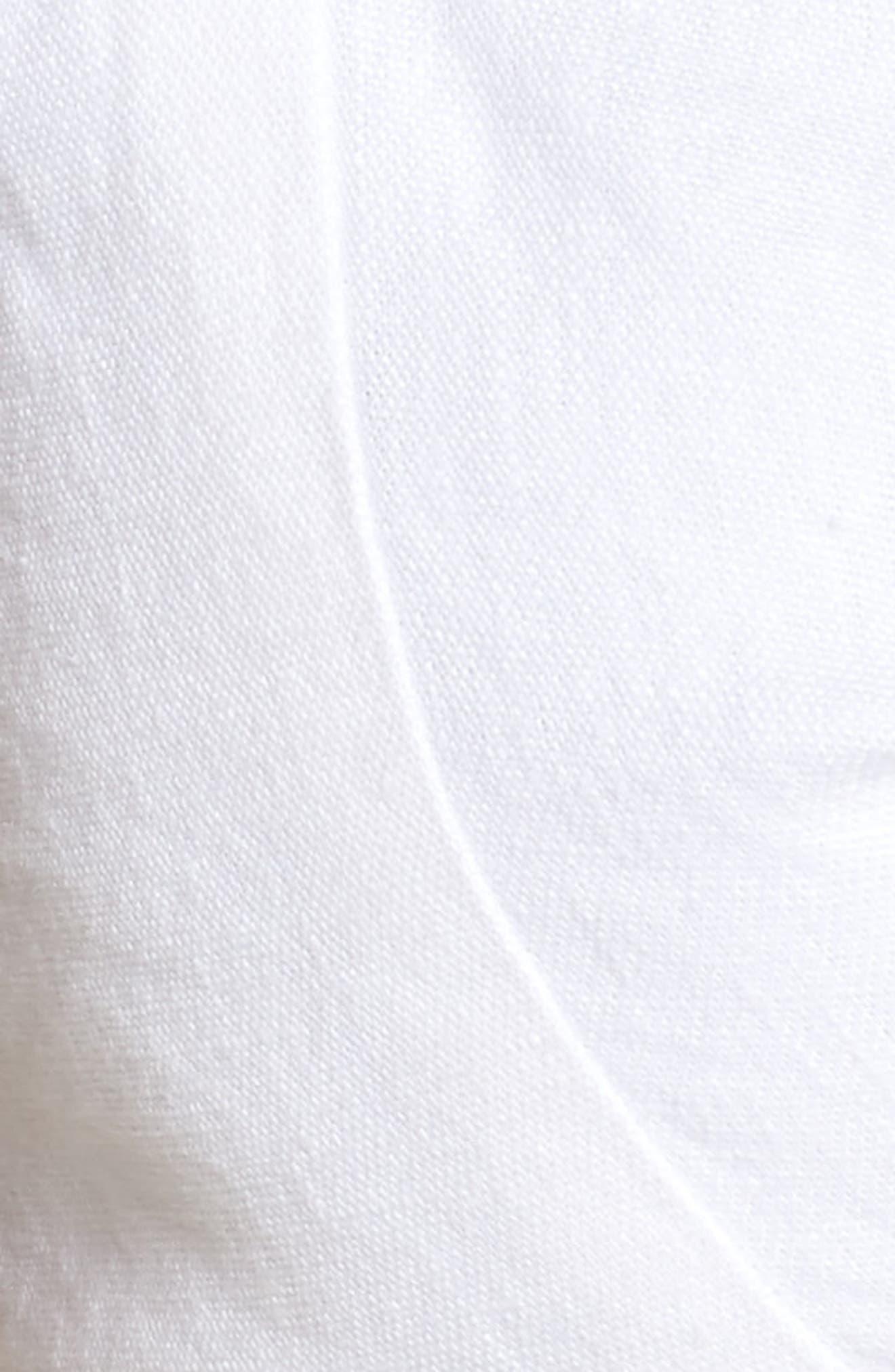 De Fiori Knot Front Crop Top,                             Alternate thumbnail 5, color,                             100