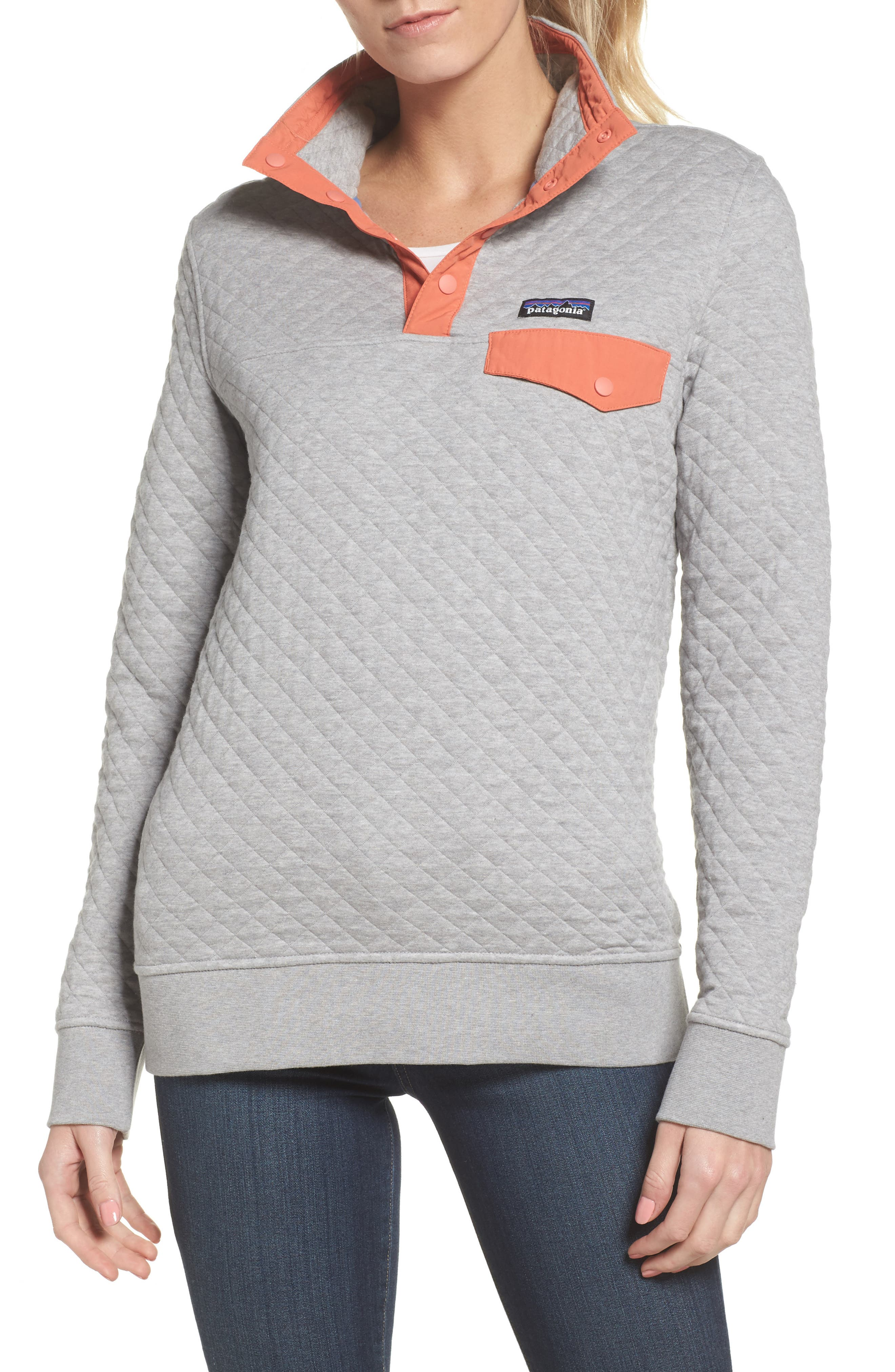 PATAGONIA,                             Snap-T<sup>®</sup> Quilted Pullover,                             Main thumbnail 1, color,                             023