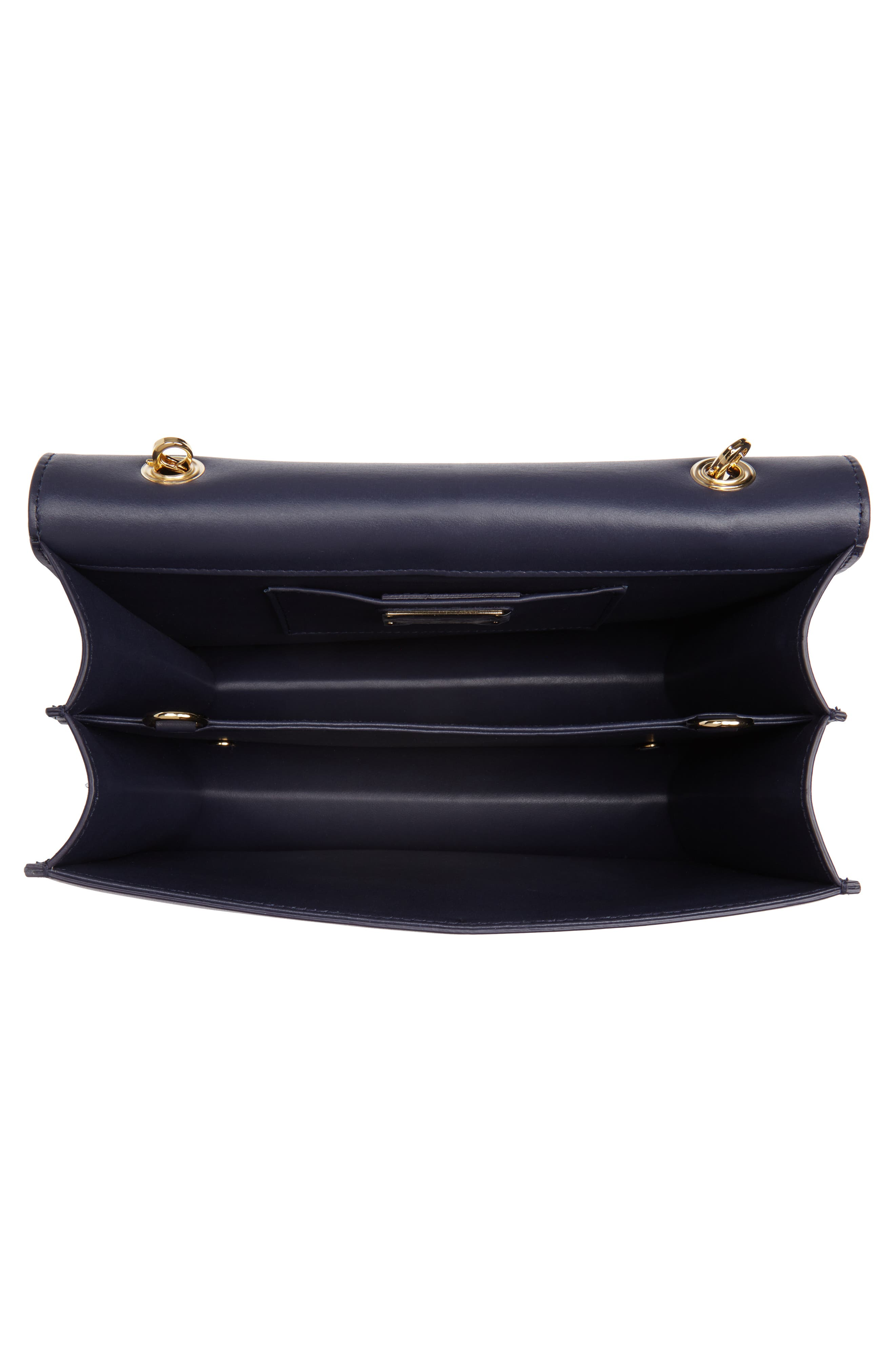 Thalia Gancio Leather Shoulder Bag,                             Alternate thumbnail 4, color,                             MIRTO