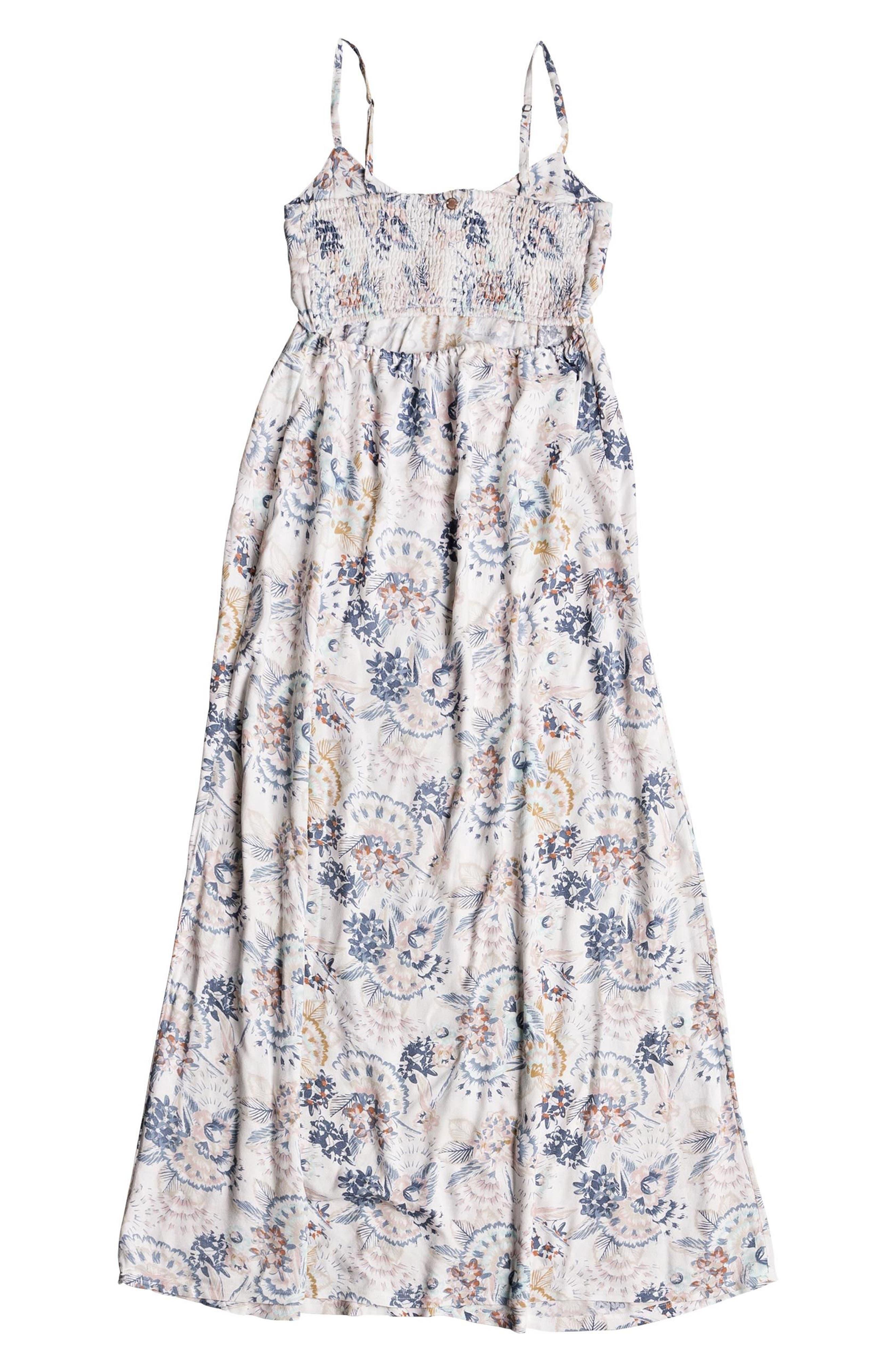 ROXY,                             Brilliant Stars Maxi Dress,                             Alternate thumbnail 5, color,                             900