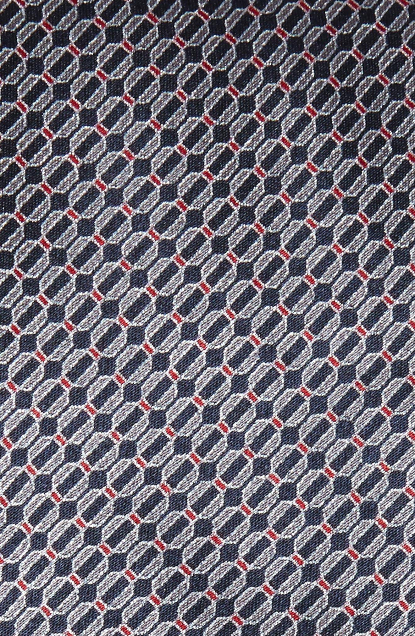 Geometric Silk Tie,                             Alternate thumbnail 2, color,                             406