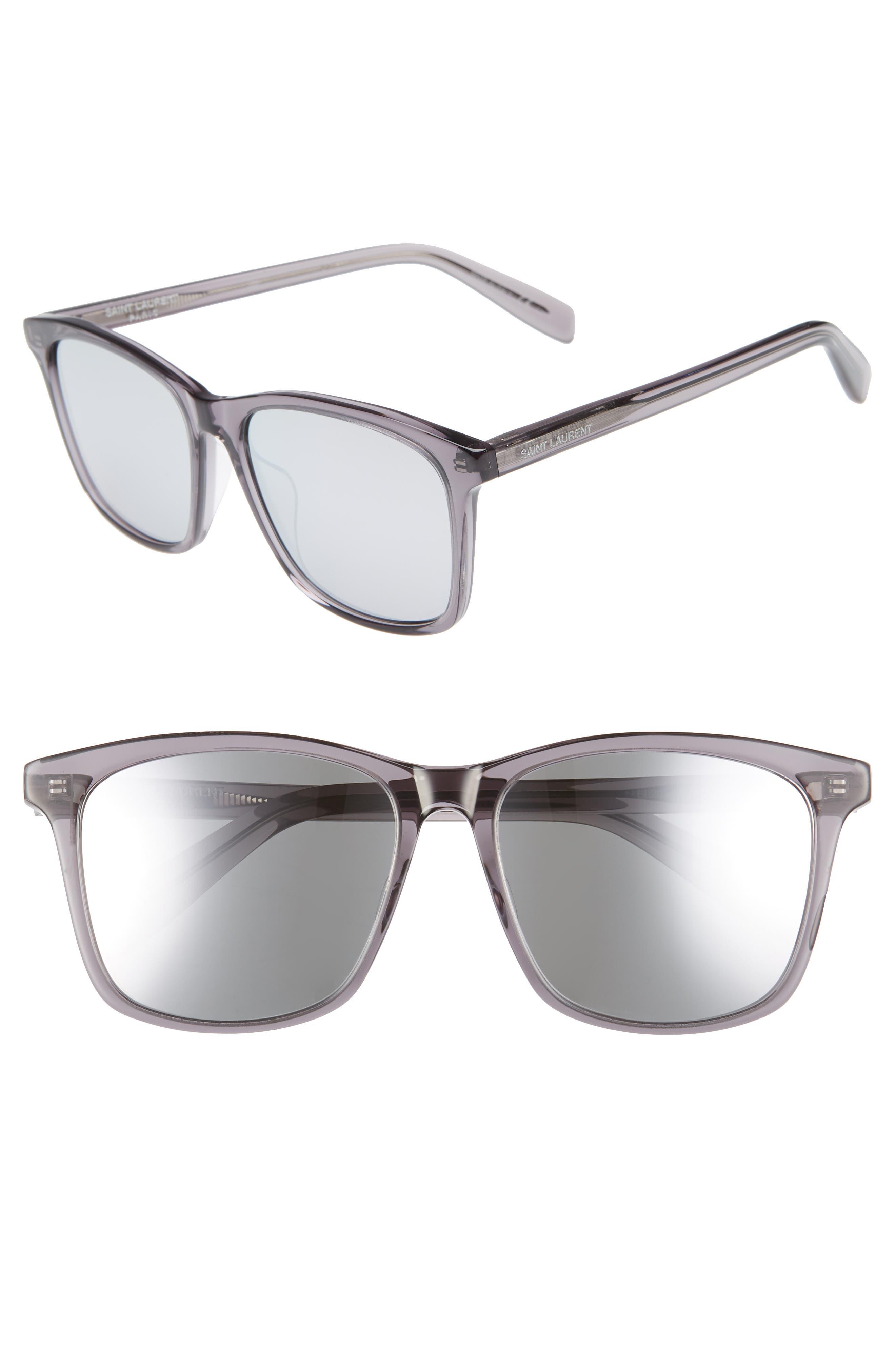 205/K 57mm Sunglasses,                             Main thumbnail 1, color,                             GREY