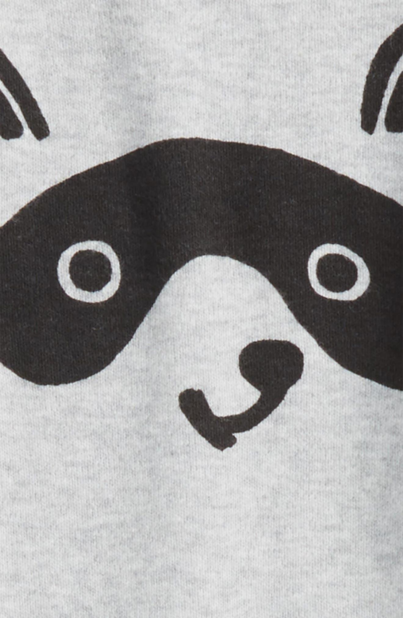 Raccoon Face Romper,                             Alternate thumbnail 2, color,                             050