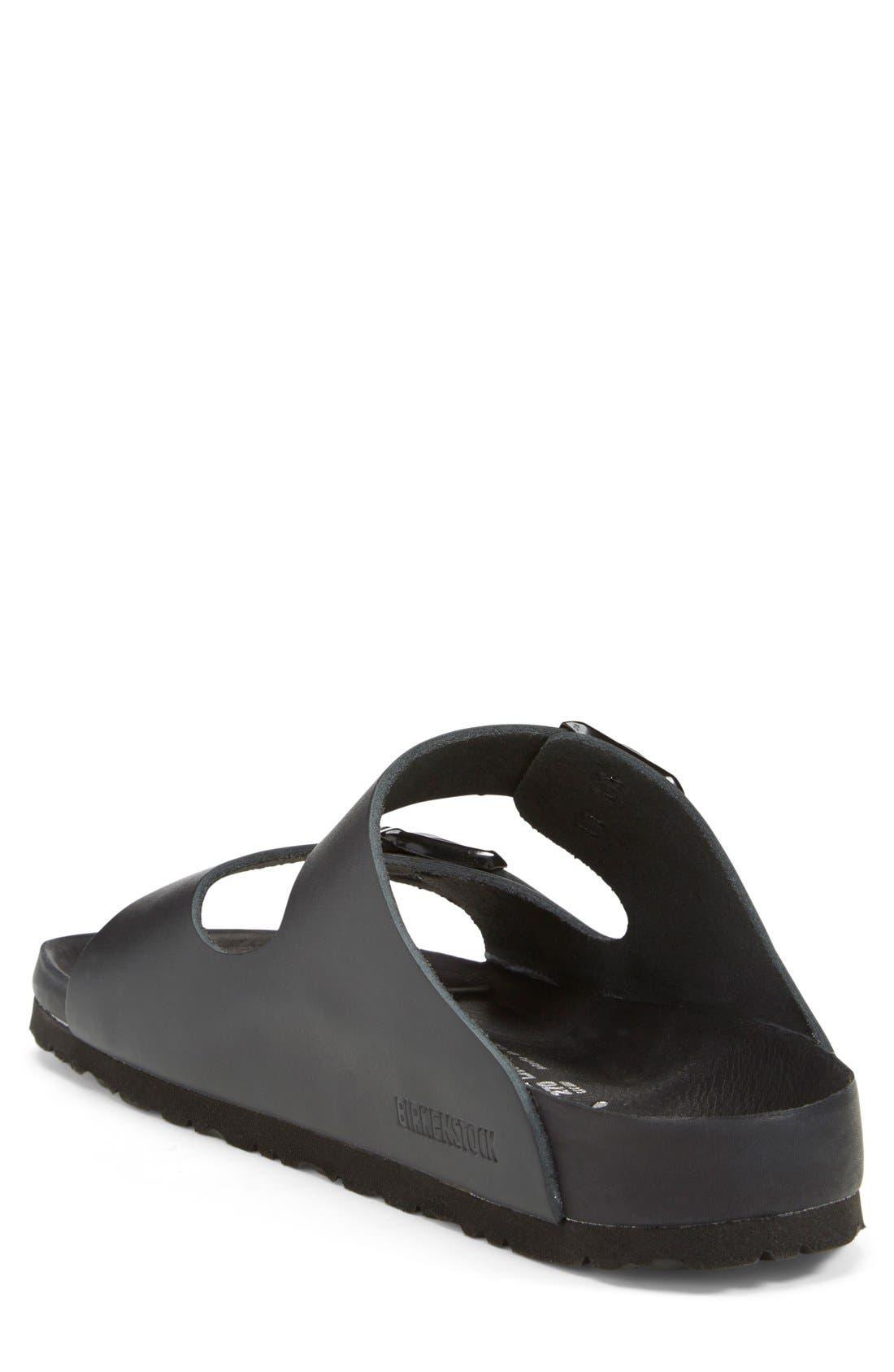 Monterey Leather Slide Sandal,                             Alternate thumbnail 2, color,                             001