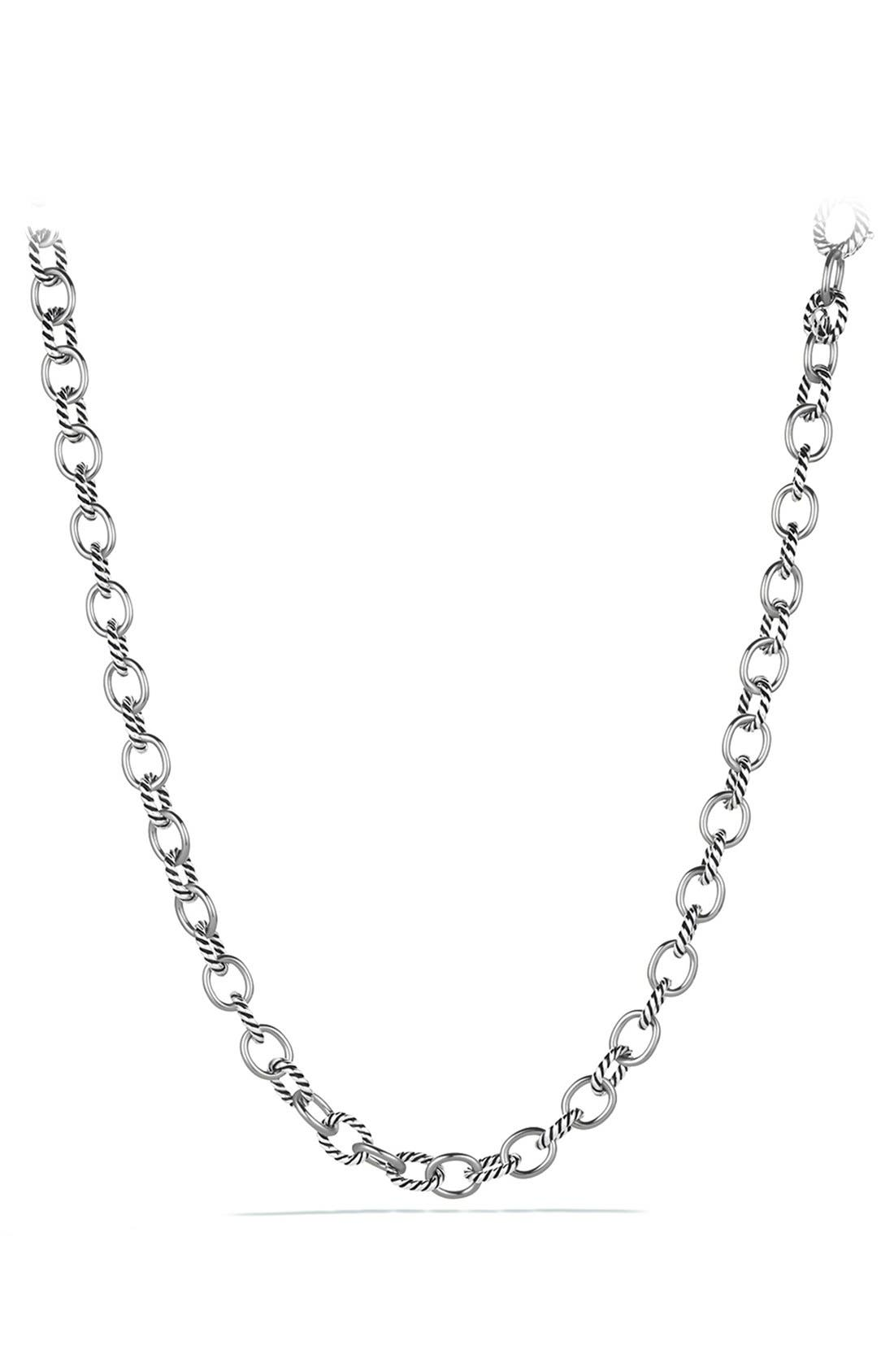 'Oval' Medium Link Necklace,                         Main,                         color, SILVER