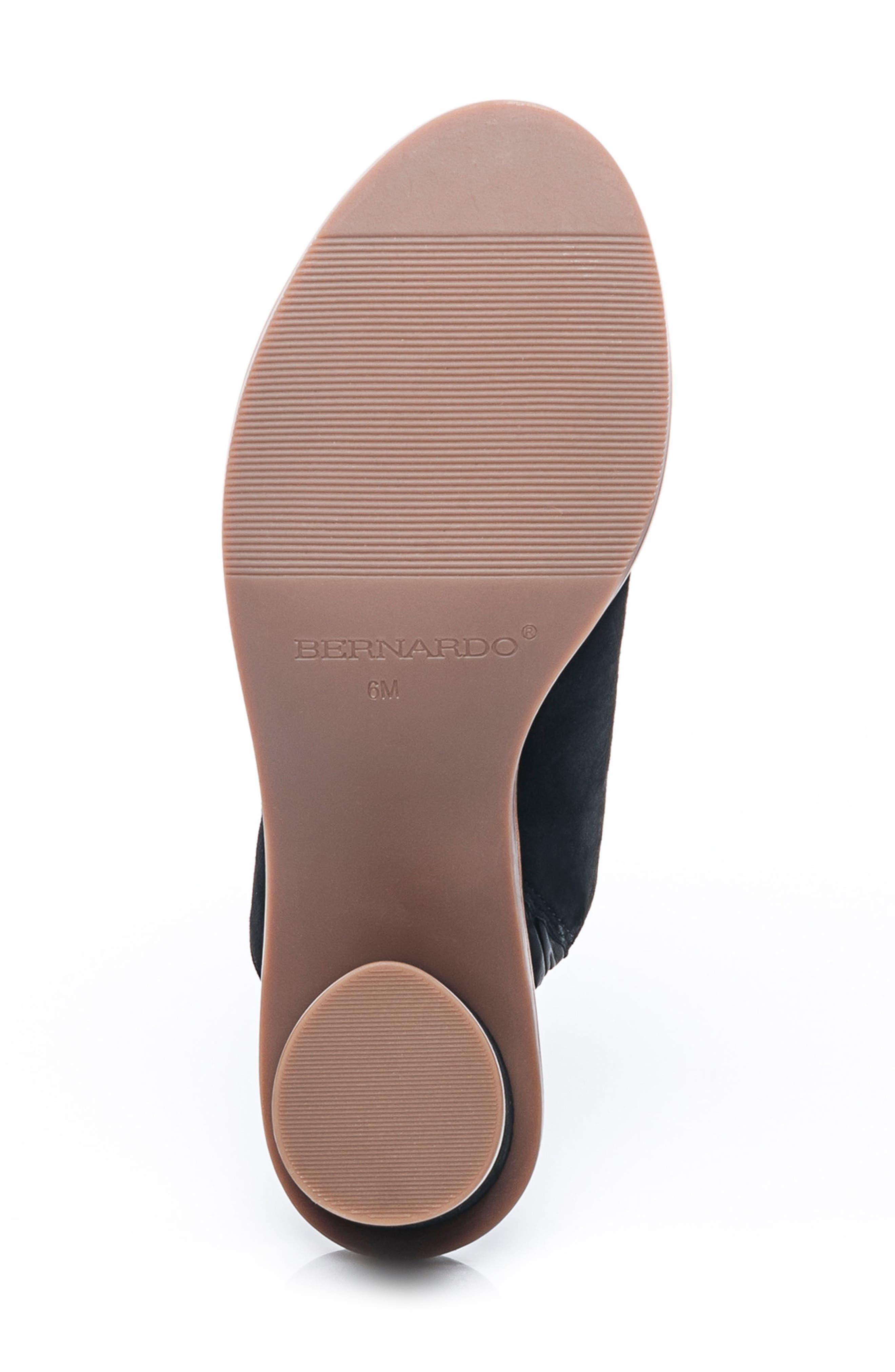 Bernardo Laurel Slide Sandal,                             Alternate thumbnail 6, color,                             001