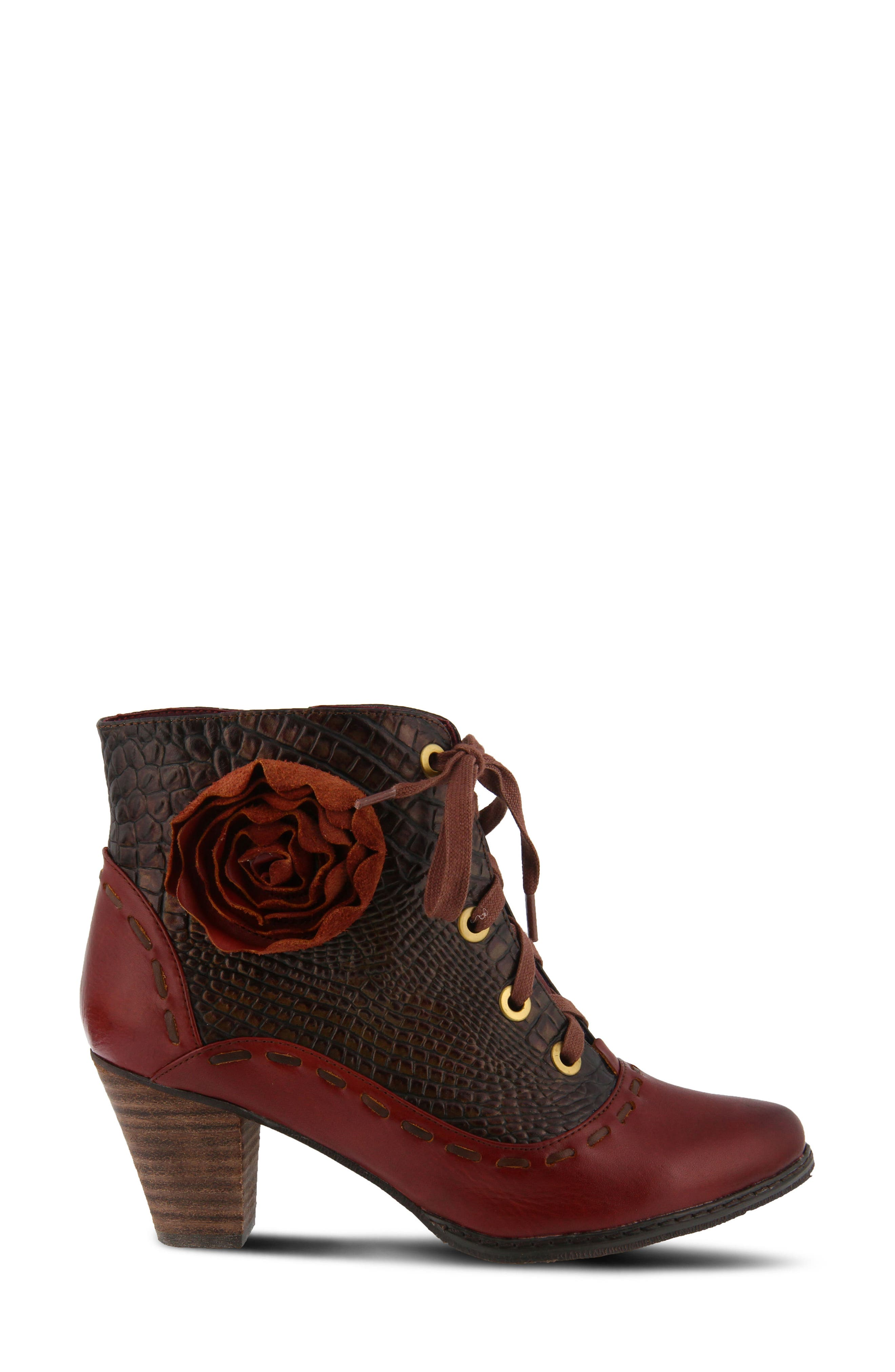 L'Artiste Sufi Bootie,                             Alternate thumbnail 3, color,                             BORDEAUX LEATHER