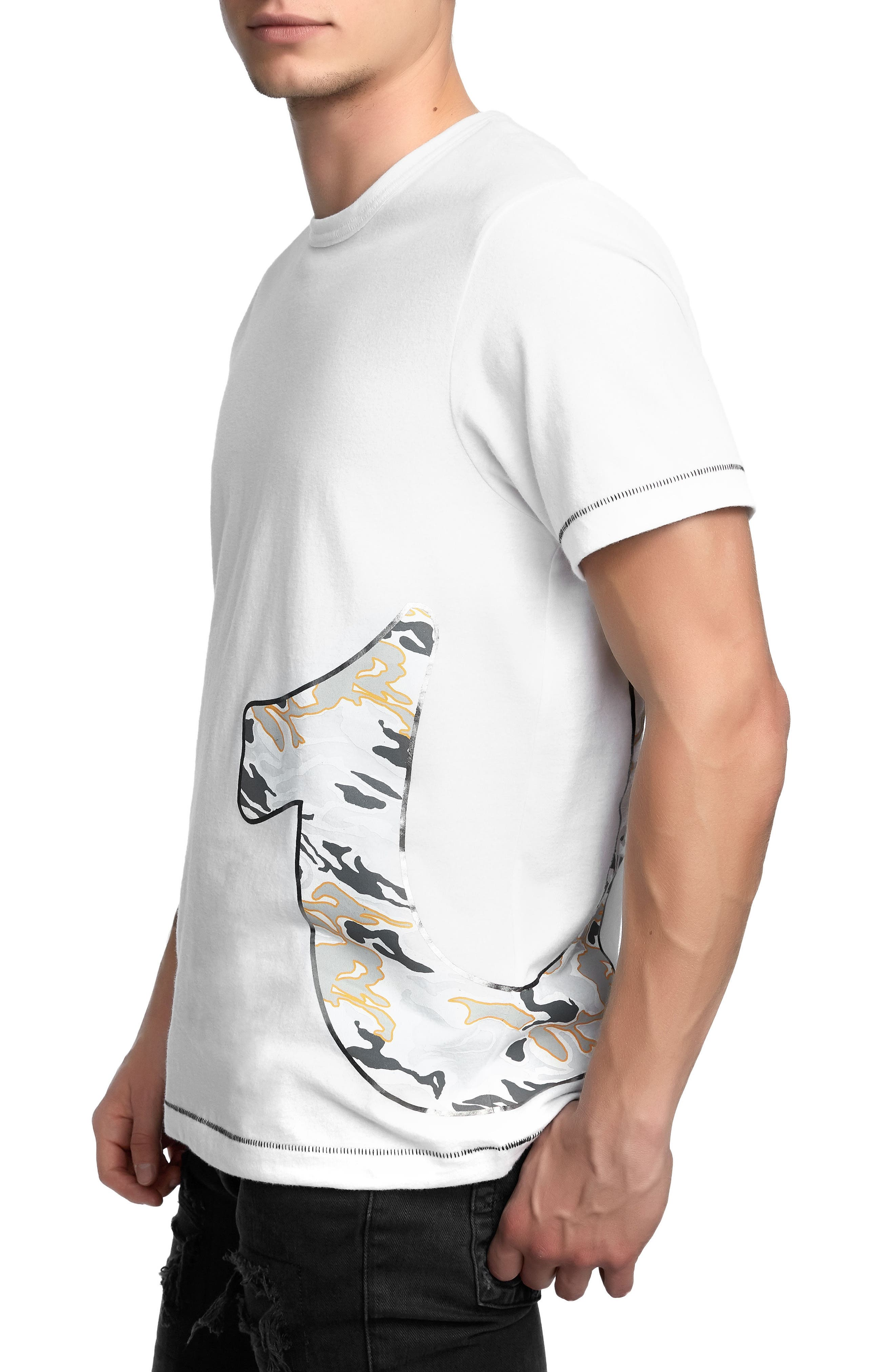 Pop Camo Logo T-Shirt,                             Alternate thumbnail 6, color,