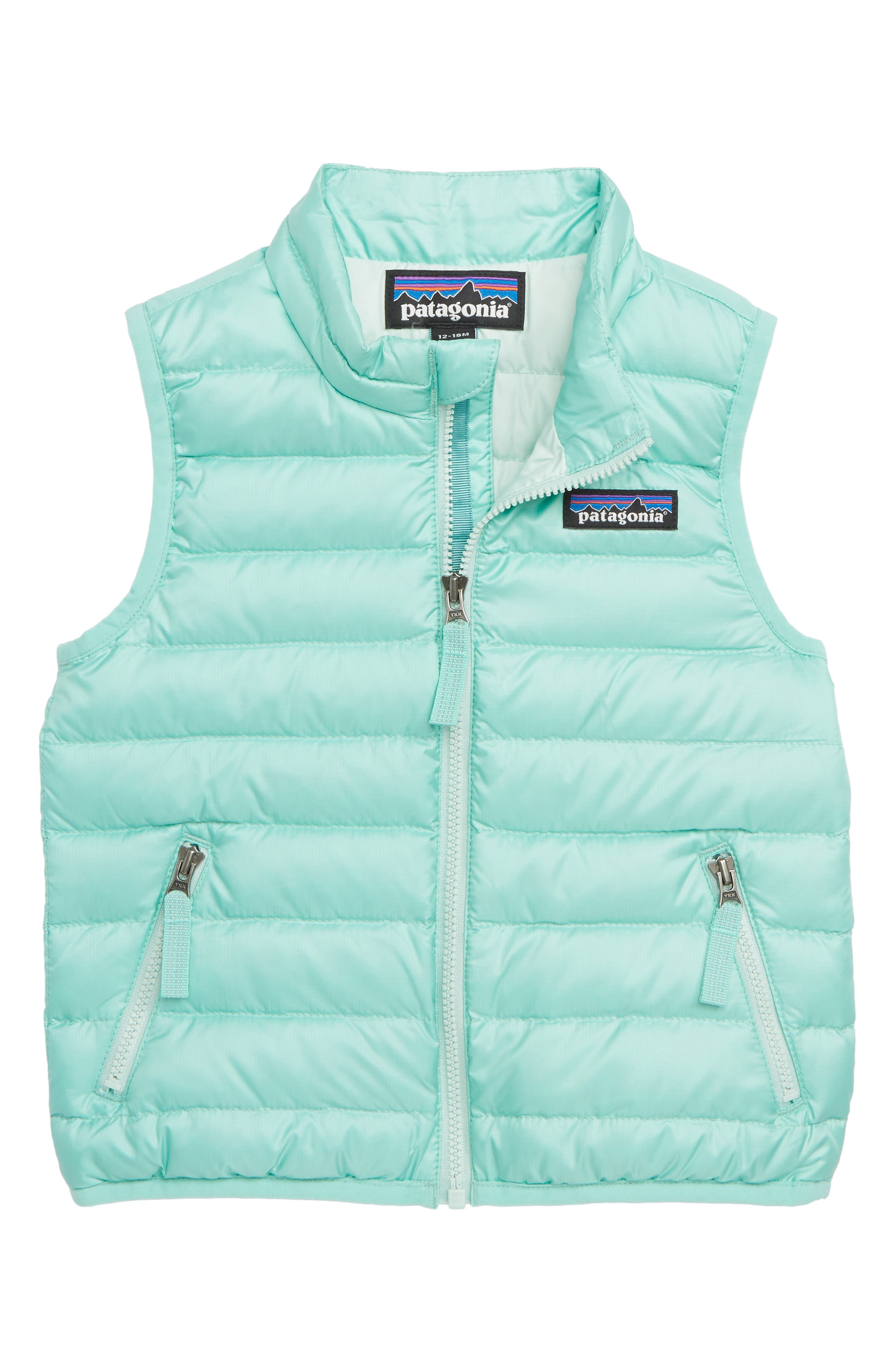 PATAGONIA Water Repellent Down Sweater Vest, Main, color, VJOSA GREEN
