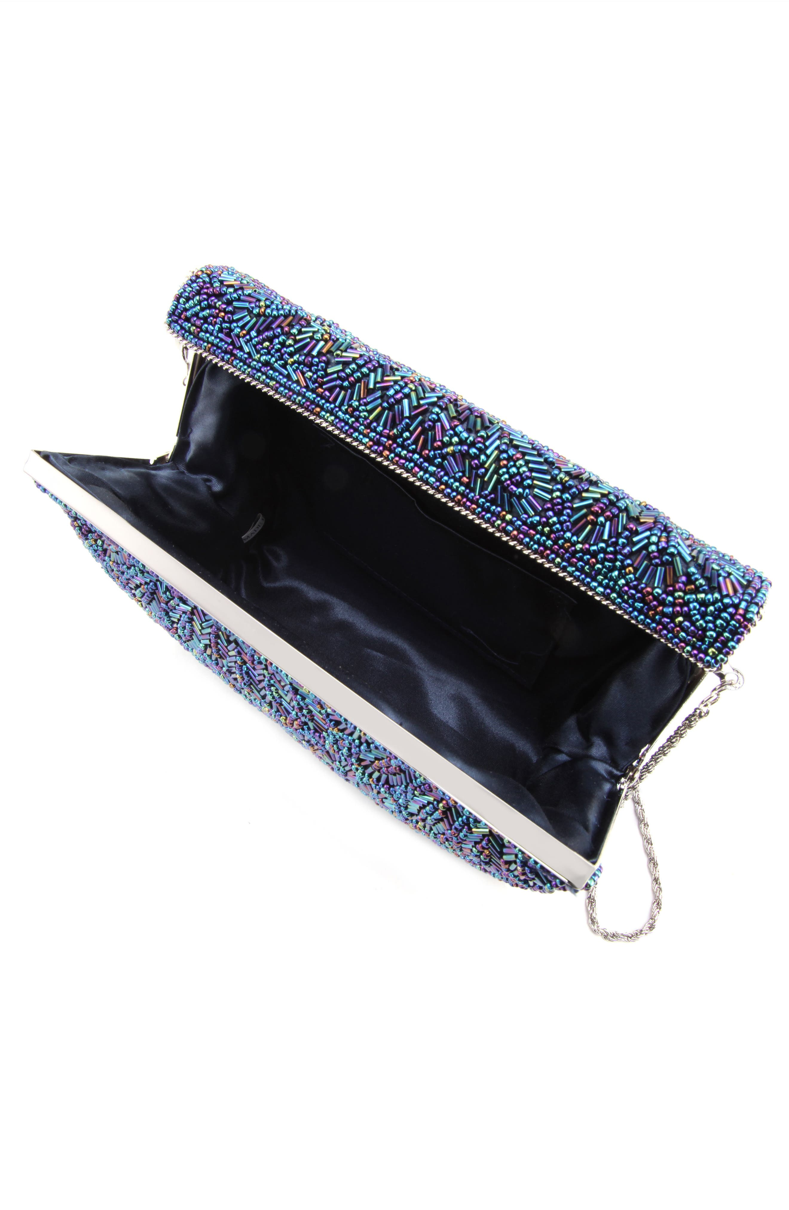 'Meadow' Beaded Frame Clutch,                             Alternate thumbnail 3, color,                             472