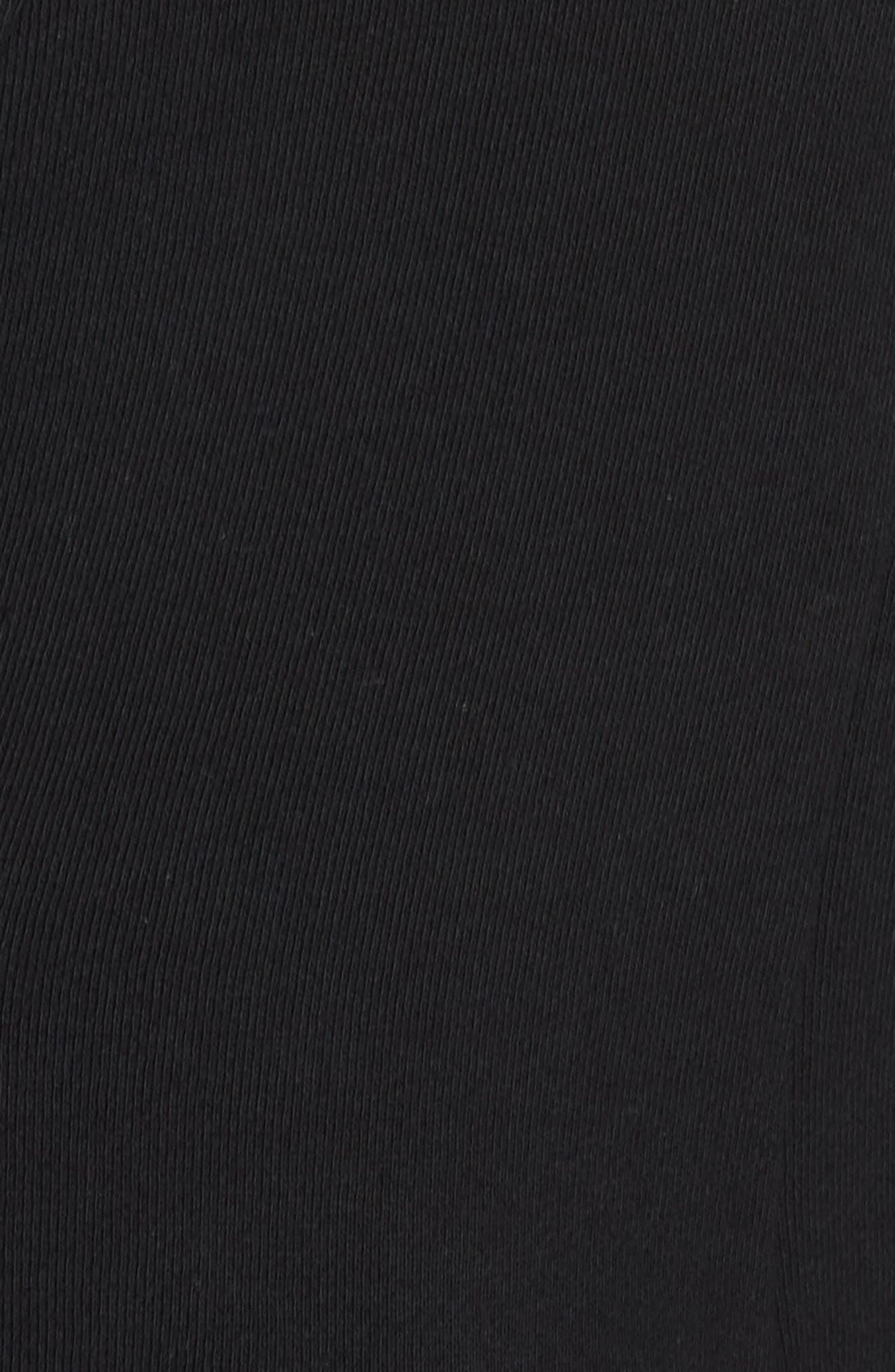 GIBSON,                             Inverted Notch Collar Cotton Blend Blazer,                             Alternate thumbnail 7, color,                             BLACK