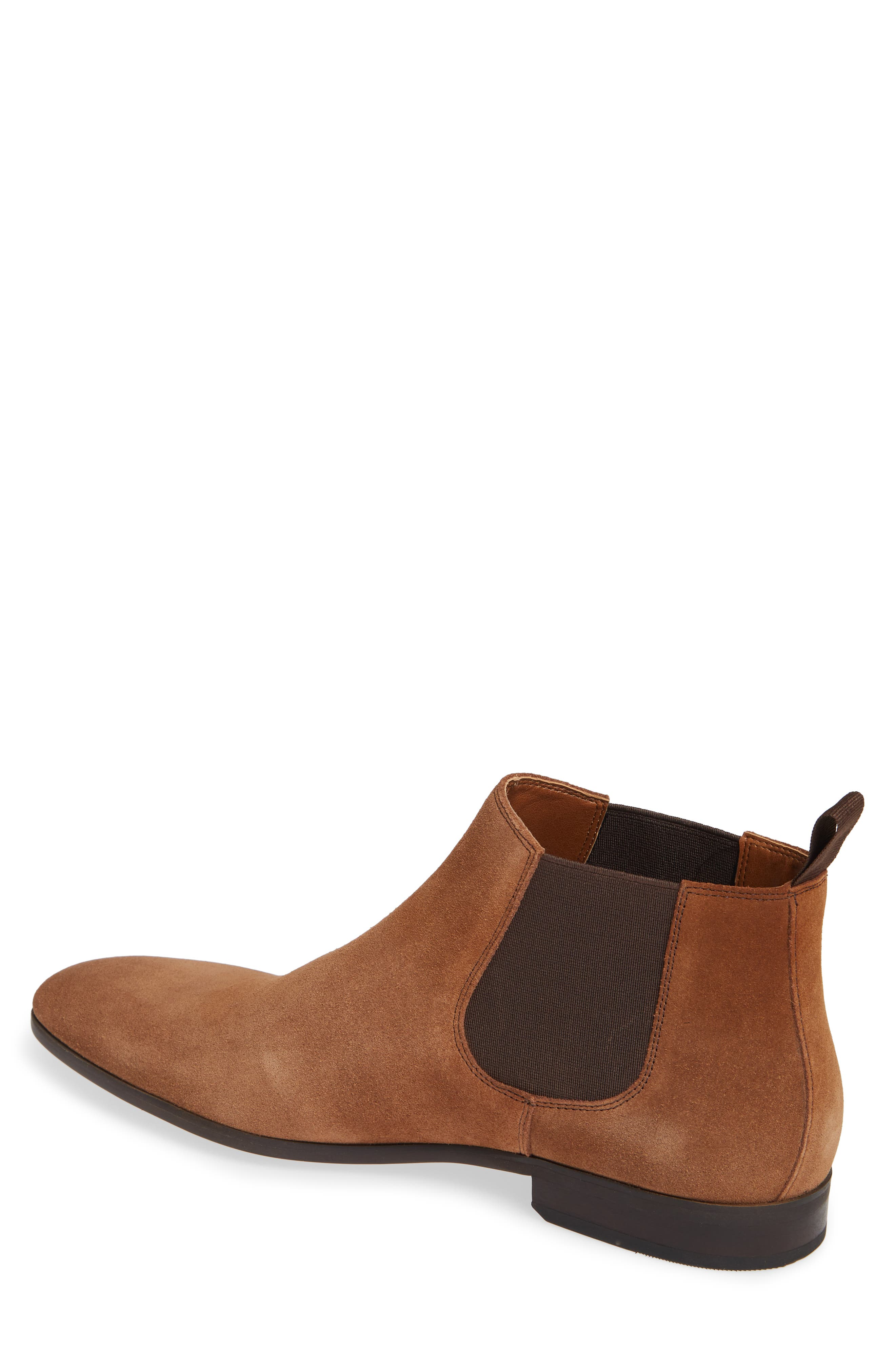 Edward Chelsea Boot,                             Alternate thumbnail 2, color,                             CHESTNUT SUEDE