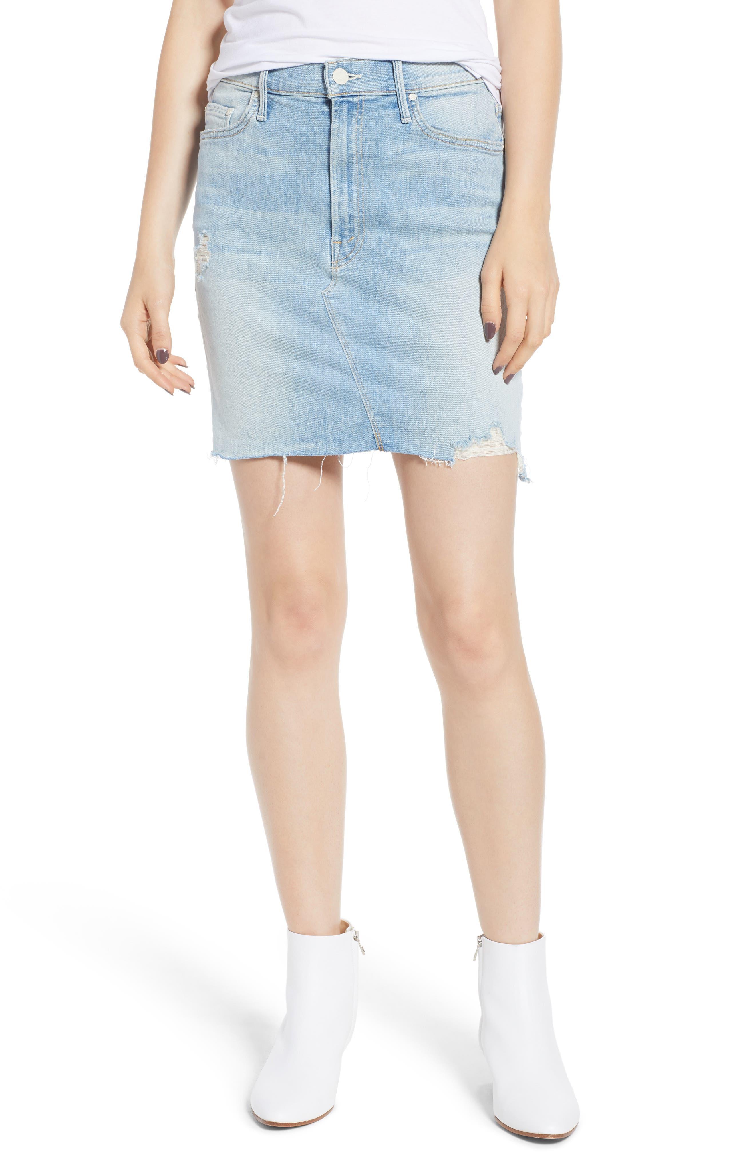 The Sacred Frayed High Waist Miniskirt,                         Main,                         color, WRITTEN IN THE SAND
