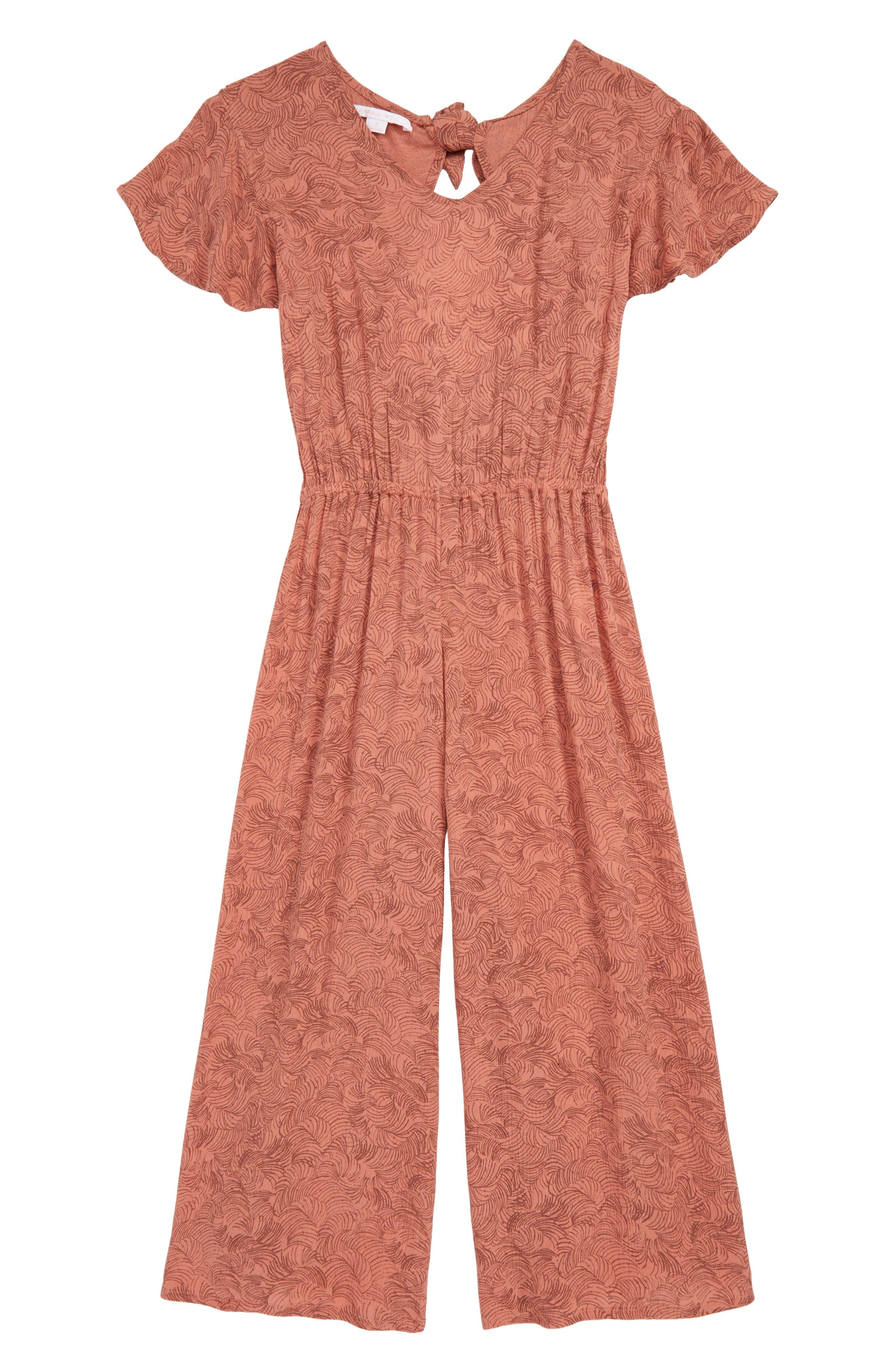 Issie Crop Jumpsuit, Main, color, ROSE DAWN
