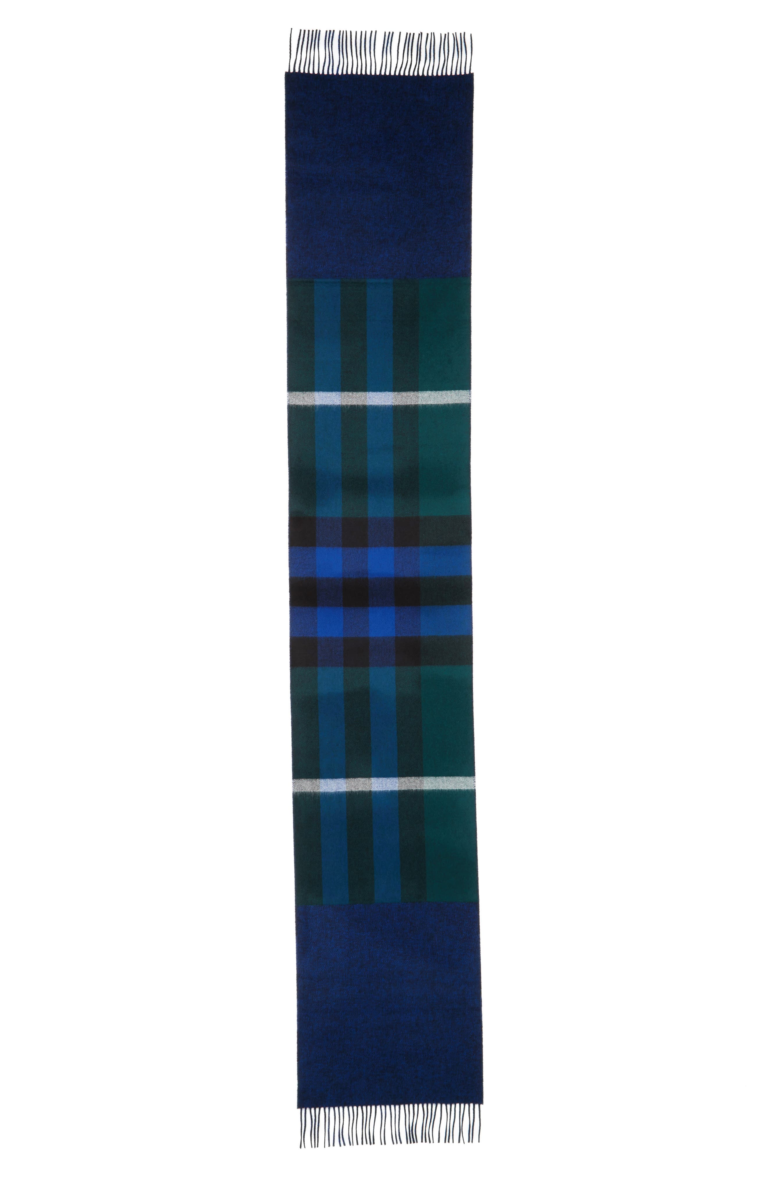 Reversible Mega Check Cashmere Scarf,                             Alternate thumbnail 2, color,                             377