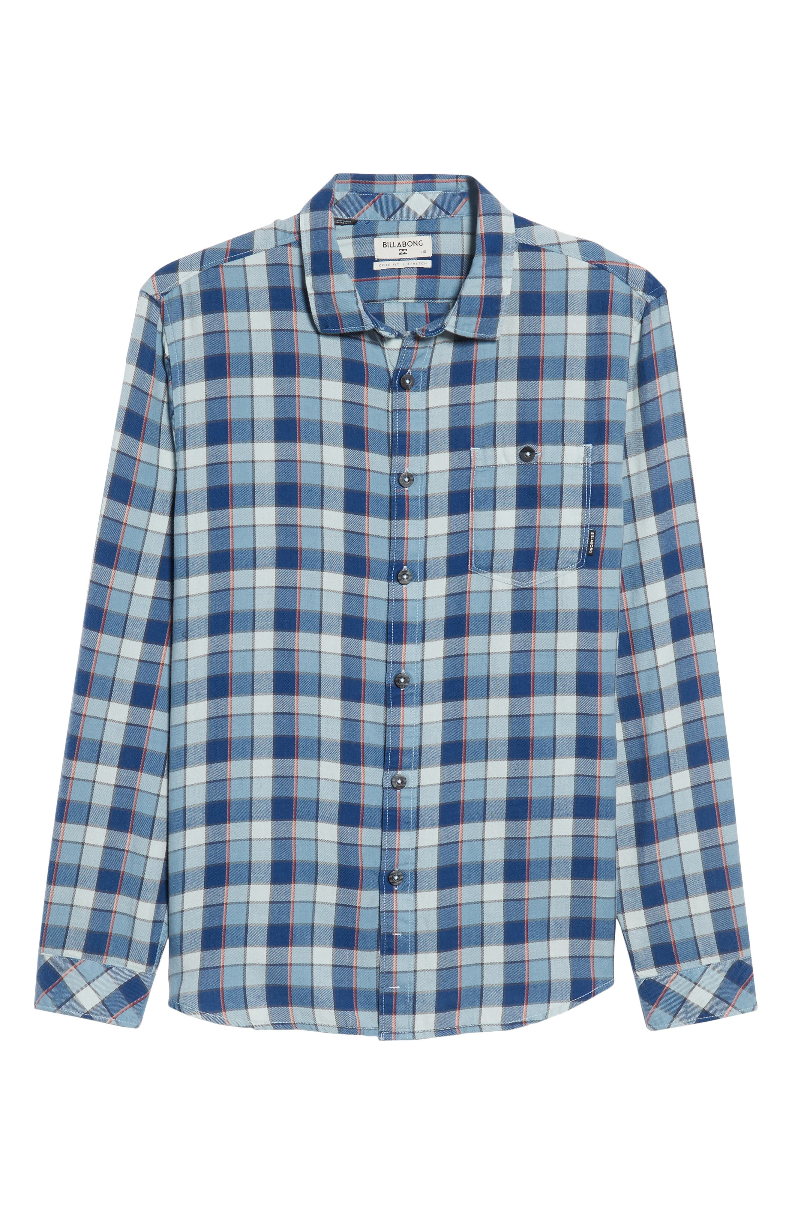 Bilabong Freemont Flannel Shirt,                             Alternate thumbnail 6, color,                             428