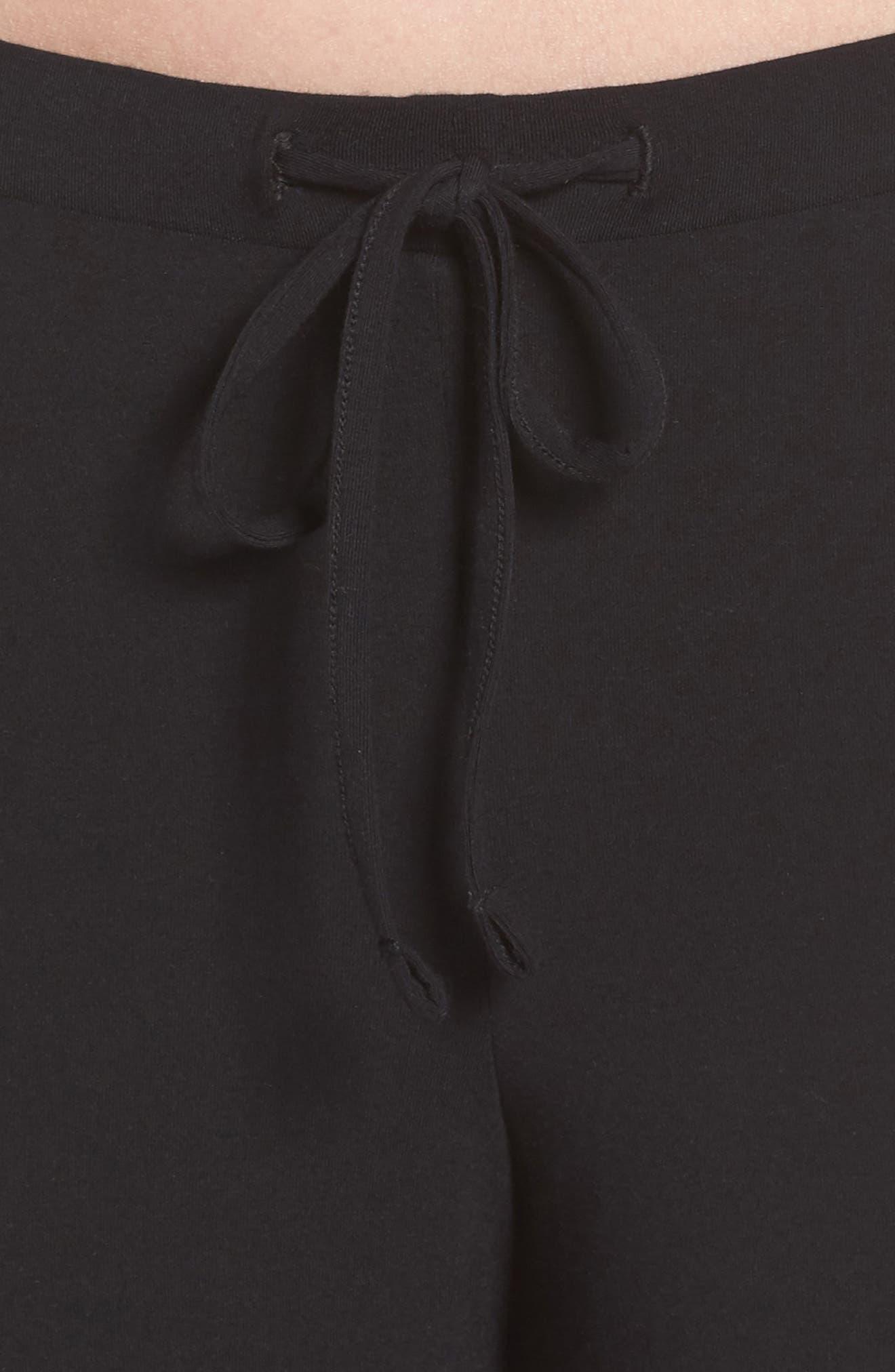 Breathe Stretch Modal Pants,                             Alternate thumbnail 4, color,                             BLACK