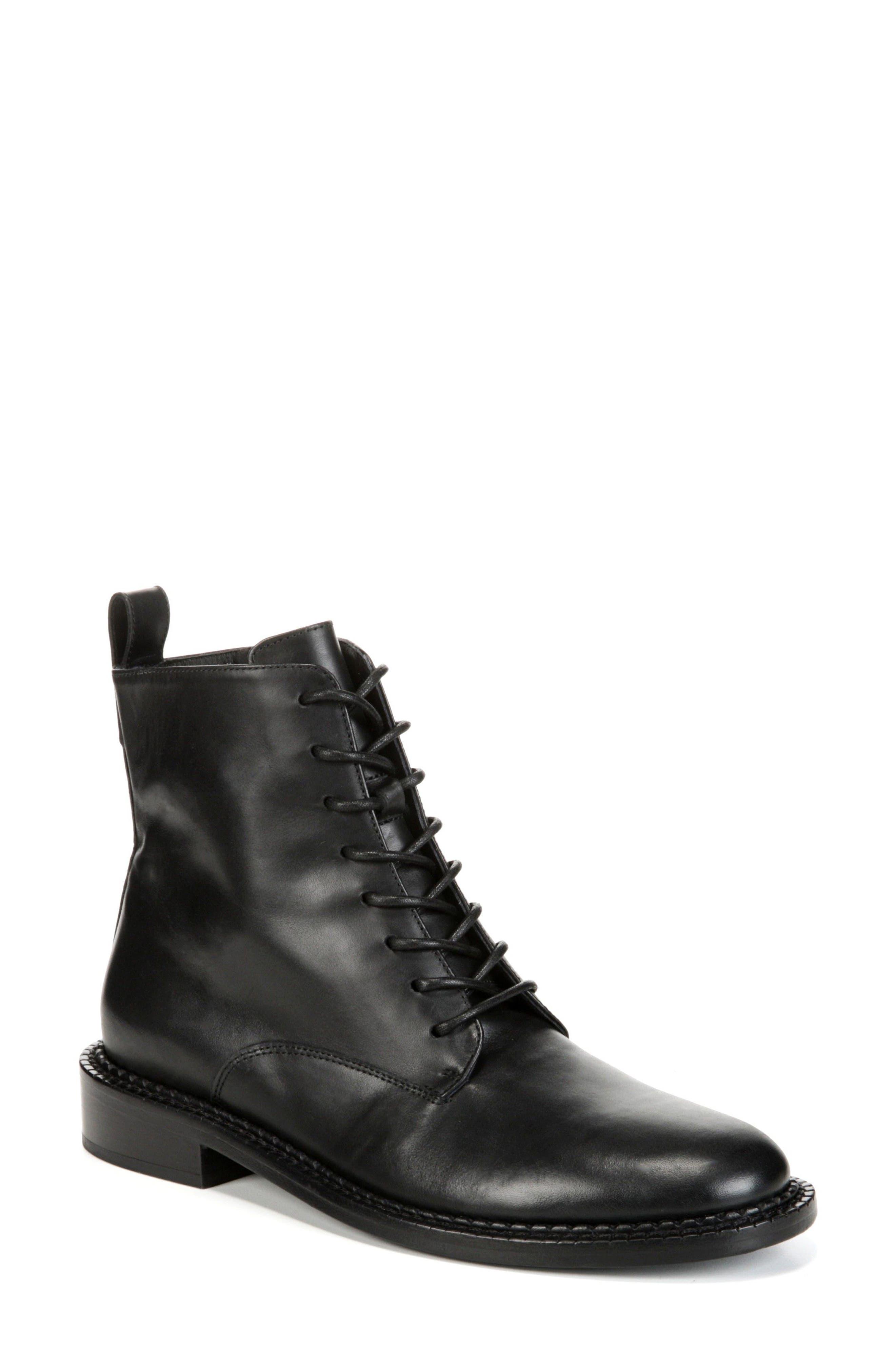 Cabria Lace-Up Boot,                             Main thumbnail 1, color,                             BLACK