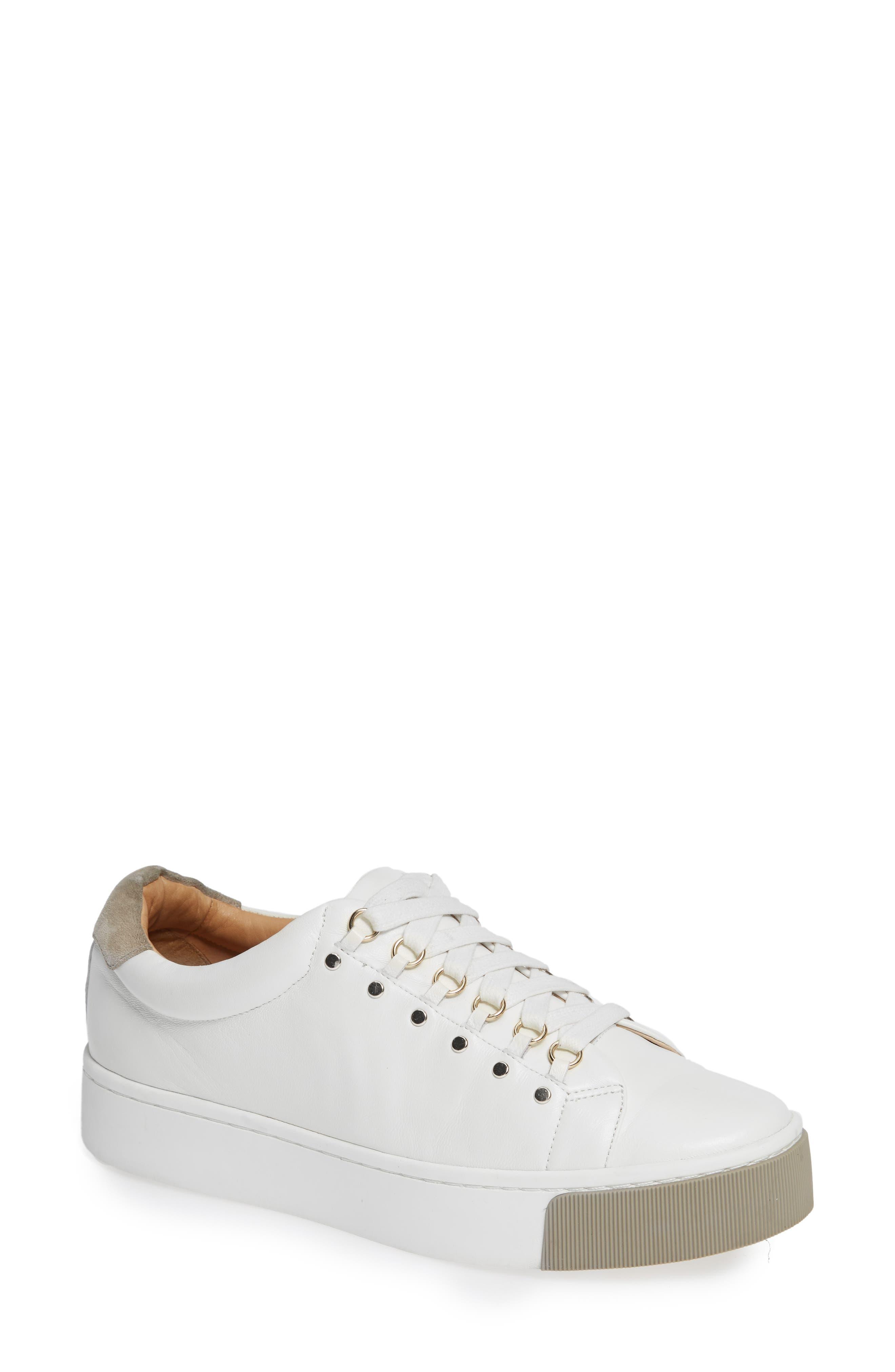 Handan Lace-Up Sneaker,                         Main,                         color, WHITE