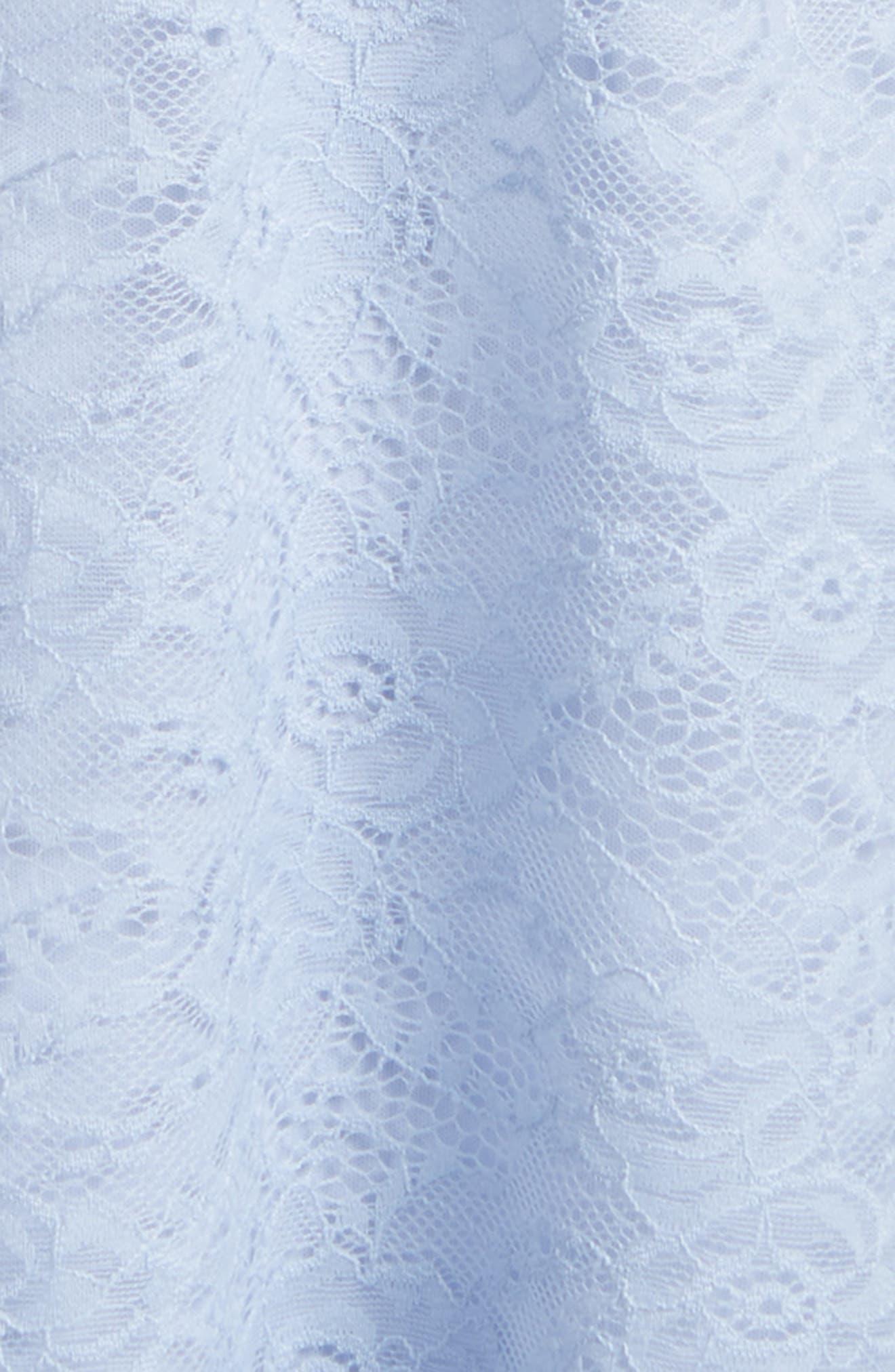 Lace Shift Dress,                             Alternate thumbnail 3, color,                             ZEN BLUE