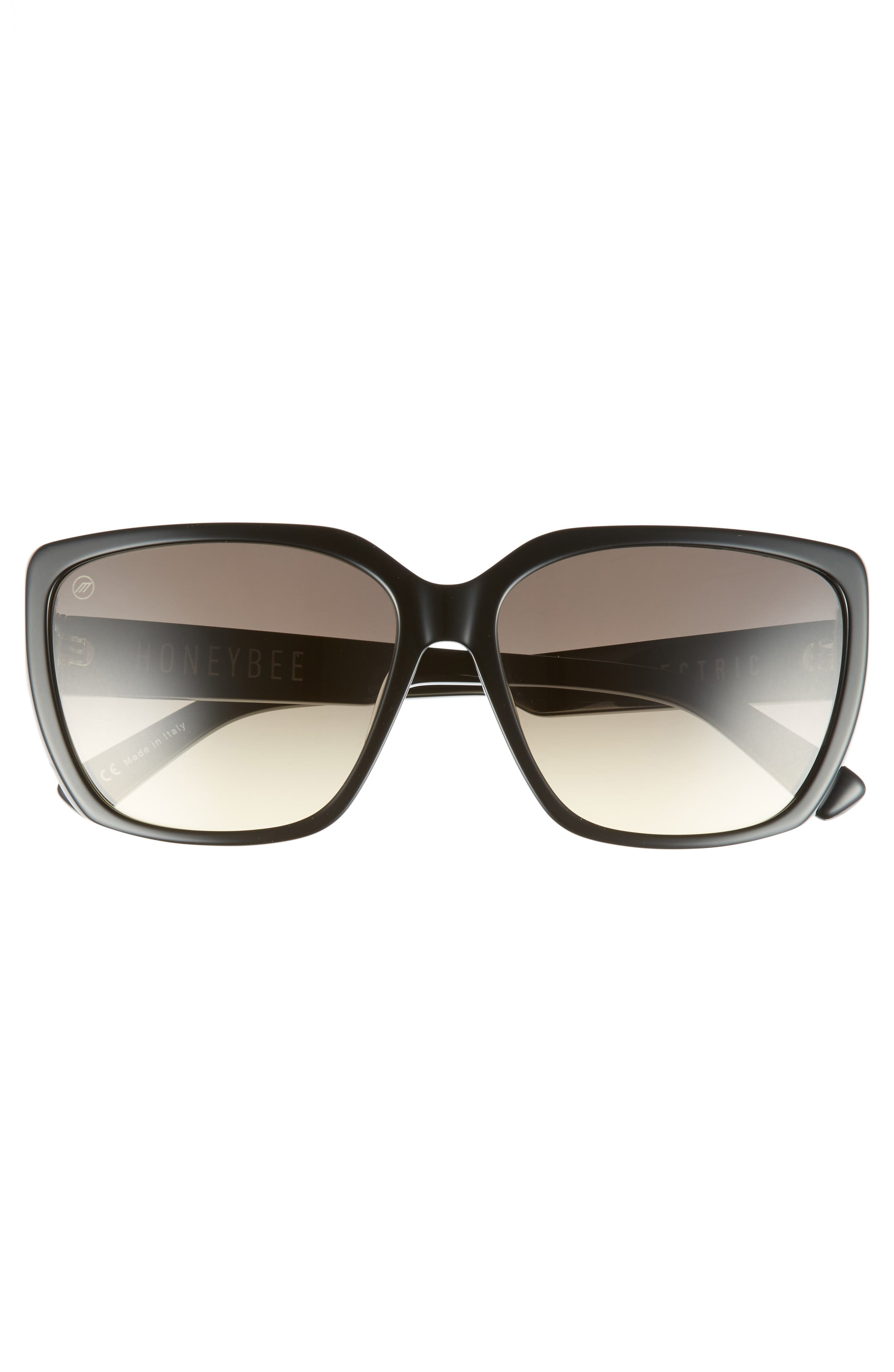 Honey Bee 60mm Mirrored Sunglasses,                             Alternate thumbnail 3, color,                             001