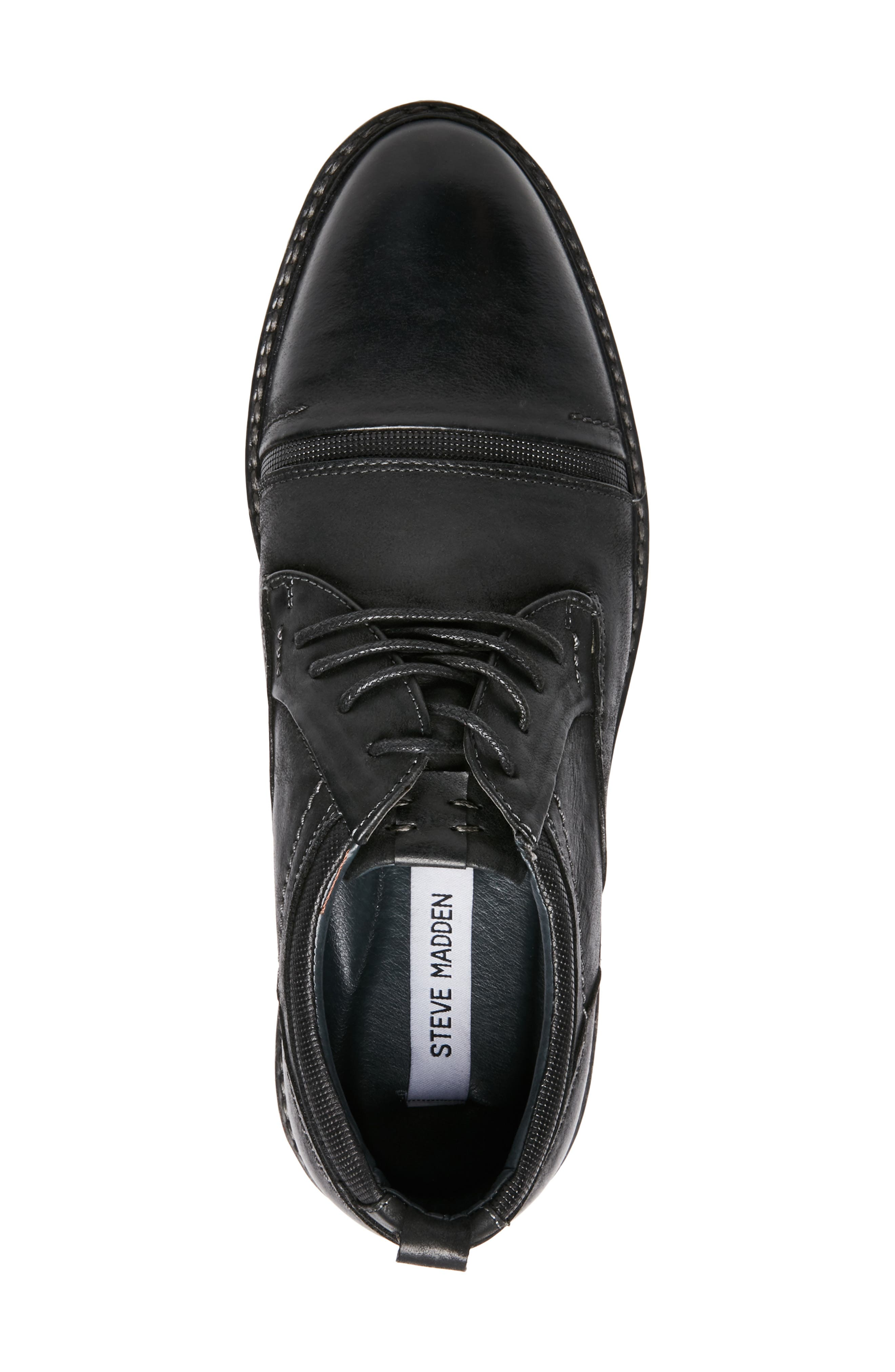 O'Leary Cap Toe Derby,                             Alternate thumbnail 5, color,                             BLACK LEATHER