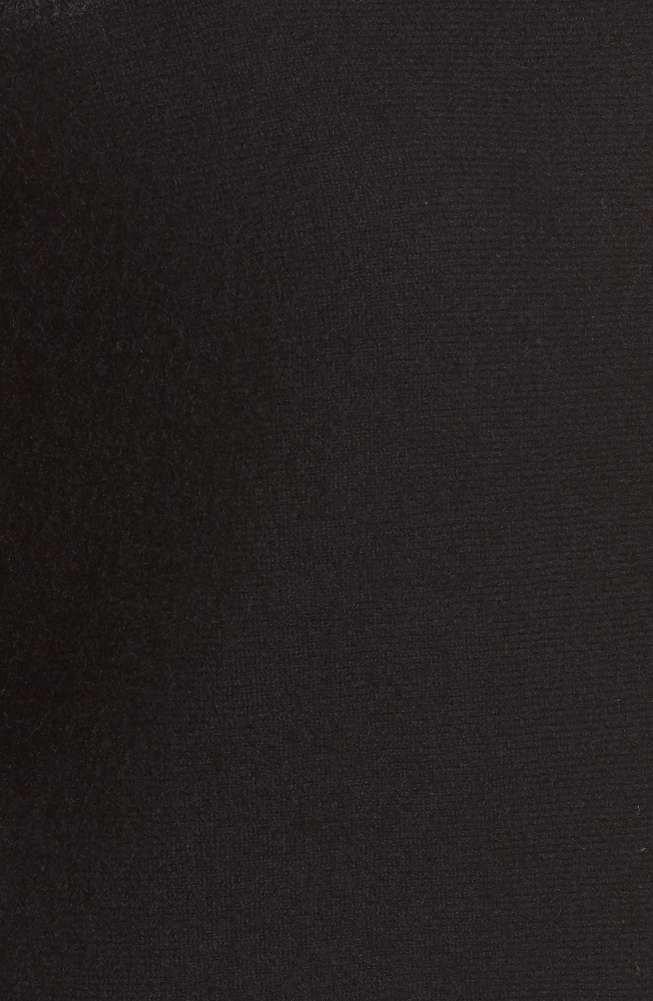 Colorblock Cashmere Sweater,                             Alternate thumbnail 5, color,                             001