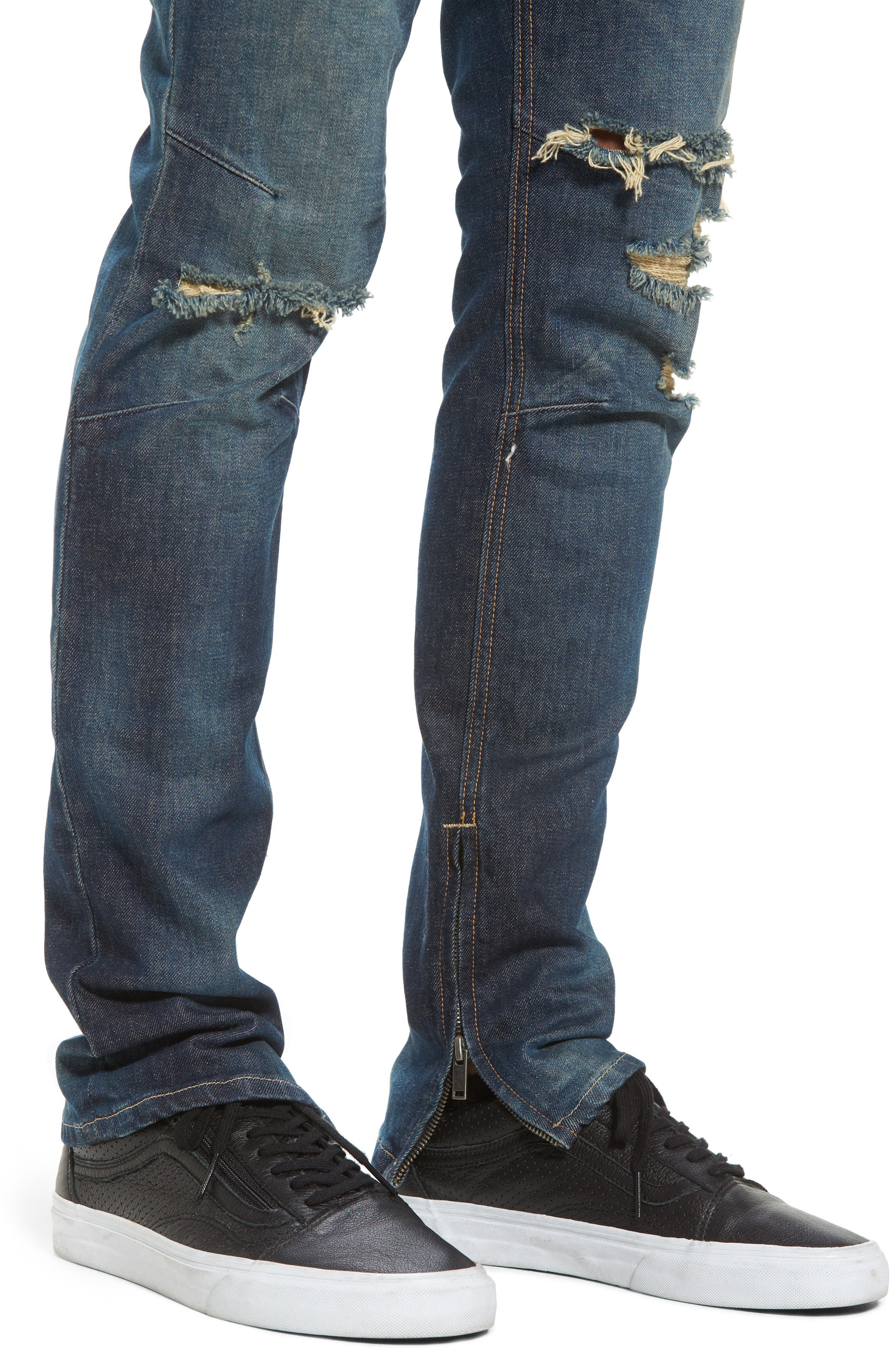 Vaughn Skinny Fit Jeans,                             Alternate thumbnail 4, color,                             SLUM