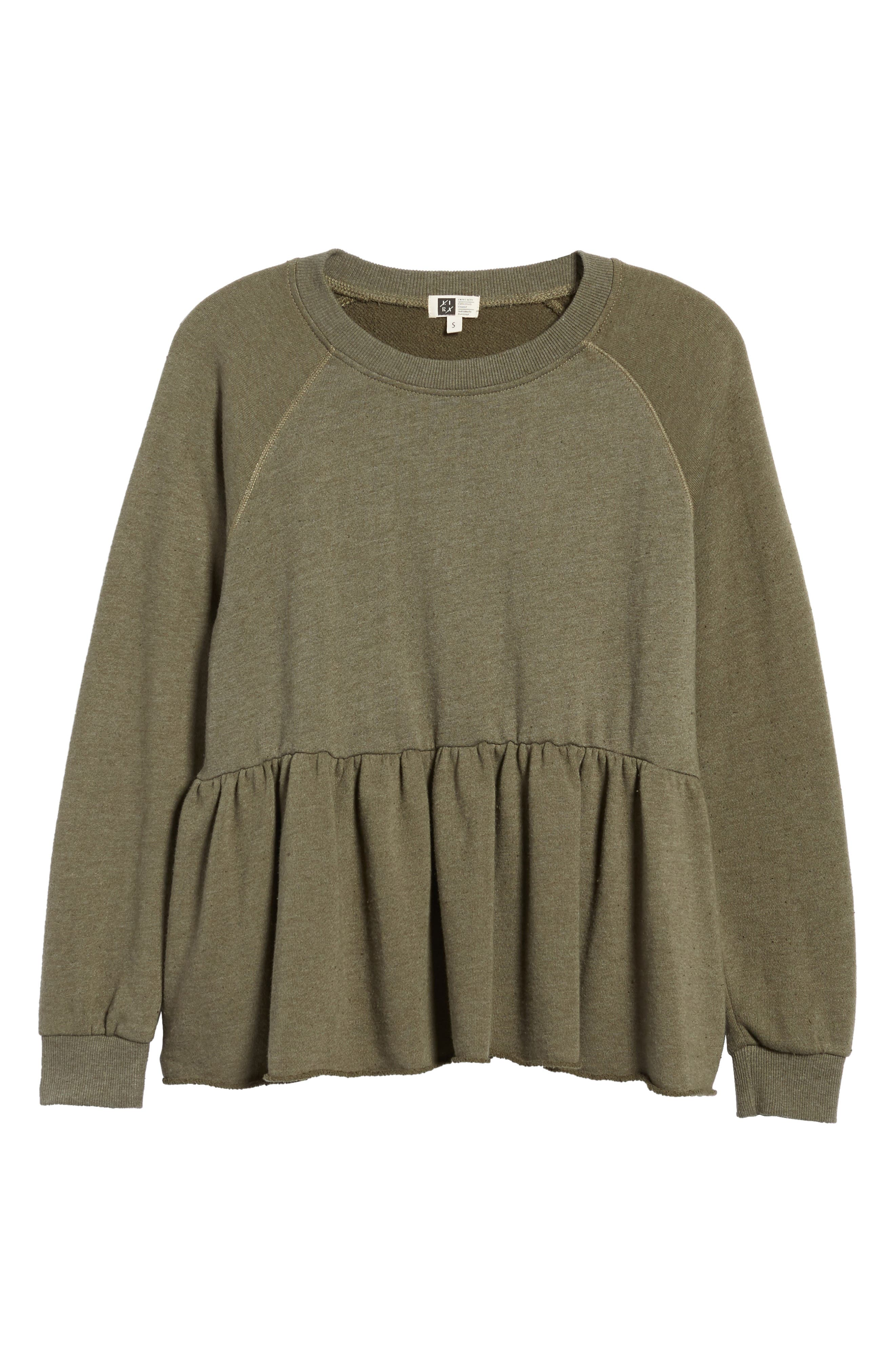 Viera Fleece Peplum Sweatshirt,                             Alternate thumbnail 12, color,