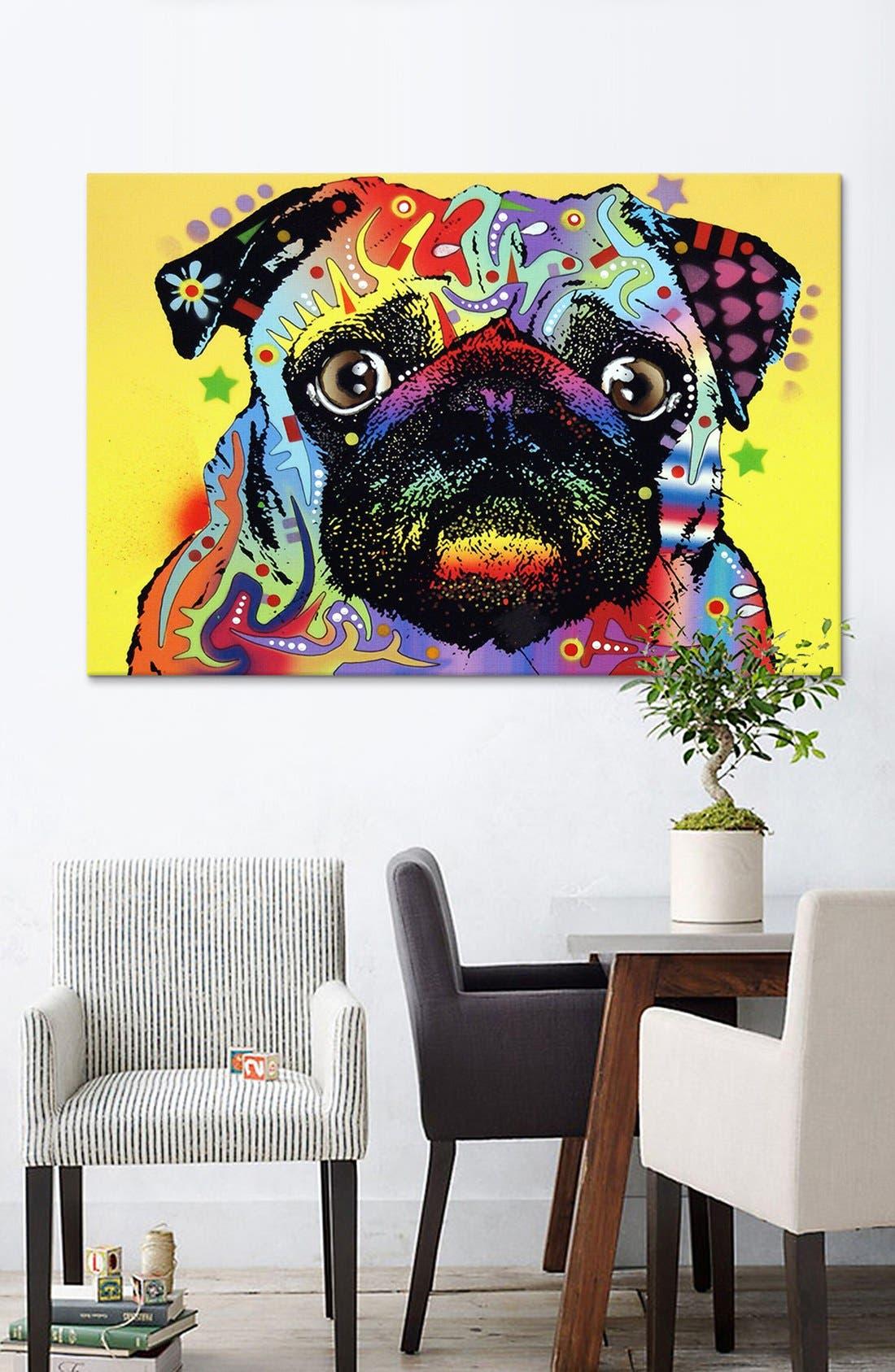 'Pug - Dean Russo' Giclée Print Canvas Art,                             Alternate thumbnail 2, color,                             700