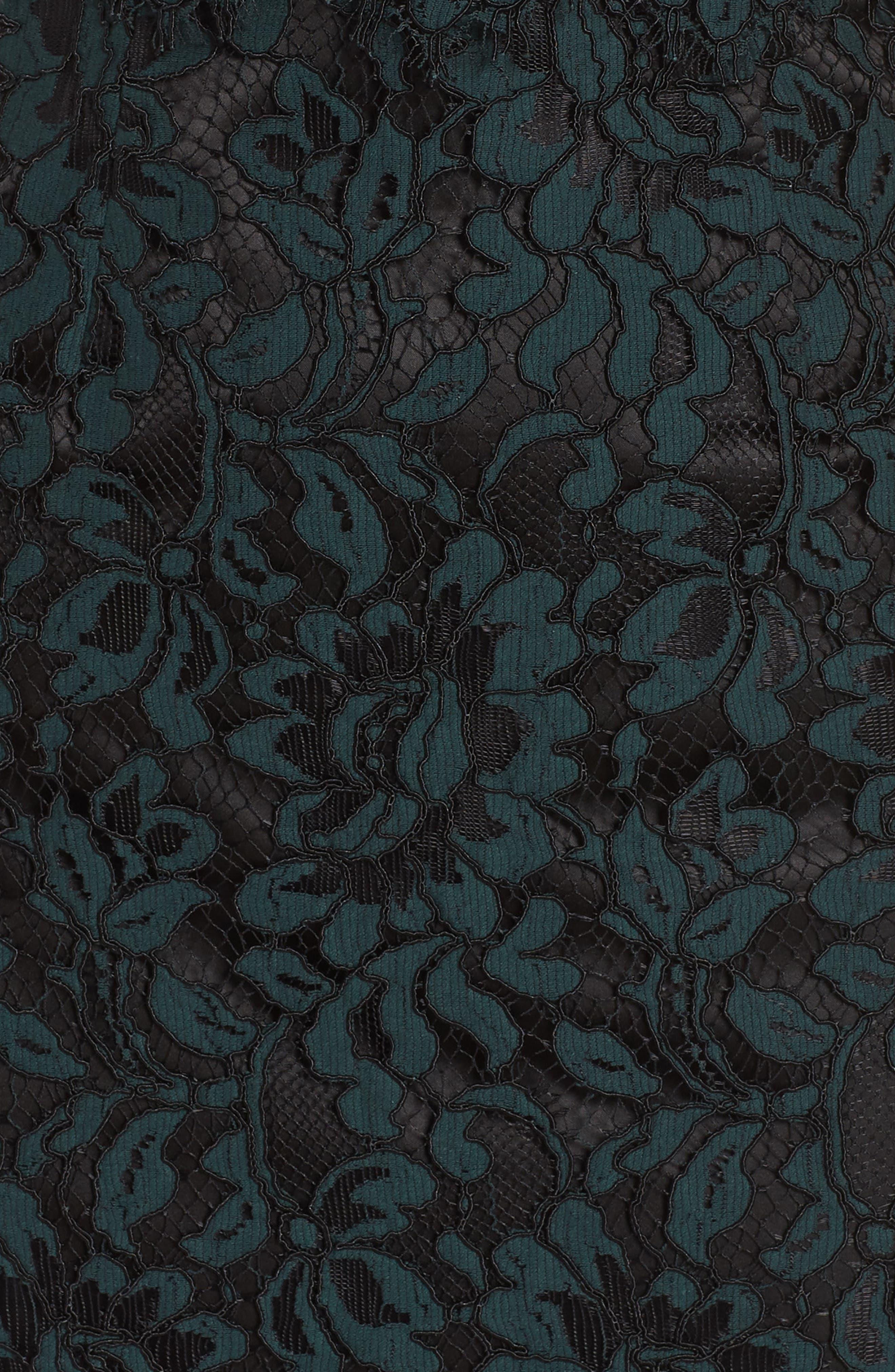 Sweetheart Neck Lace Sheath Dress,                             Alternate thumbnail 6, color,                             GREEN