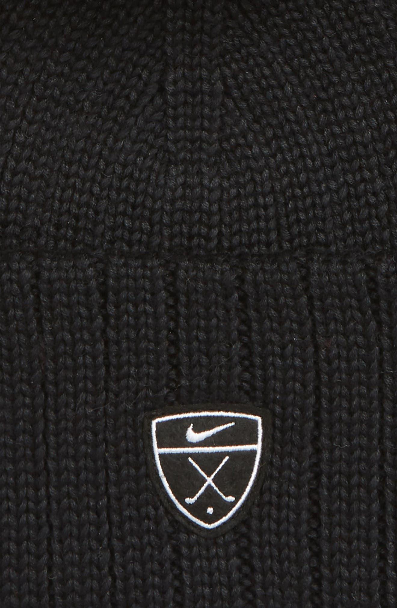 Golf Beanie,                             Alternate thumbnail 2, color,                             BLACK/ WHITE
