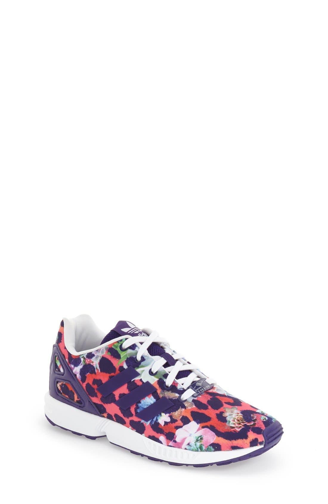 'ZX Flux EL' Print Running Shoe, Main, color, 500