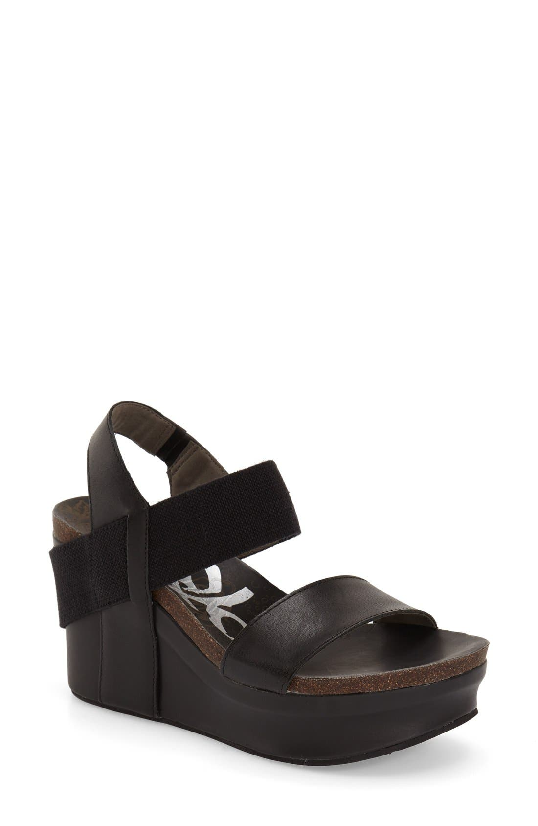 'Bushnell' Wedge Sandal,                             Main thumbnail 3, color,