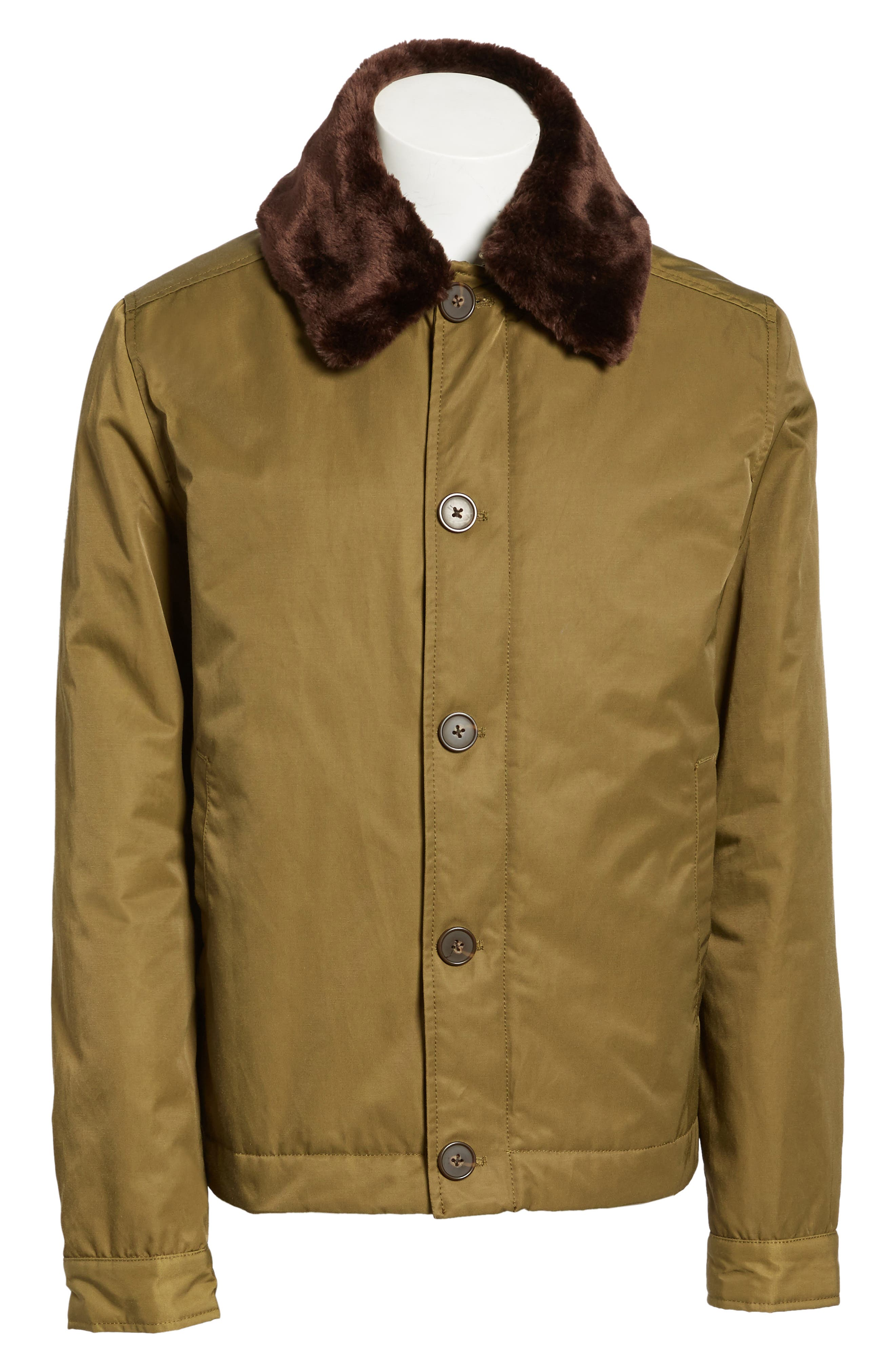 Bystander Jacket with Faux Fur Collar,                             Alternate thumbnail 5, color,                             346