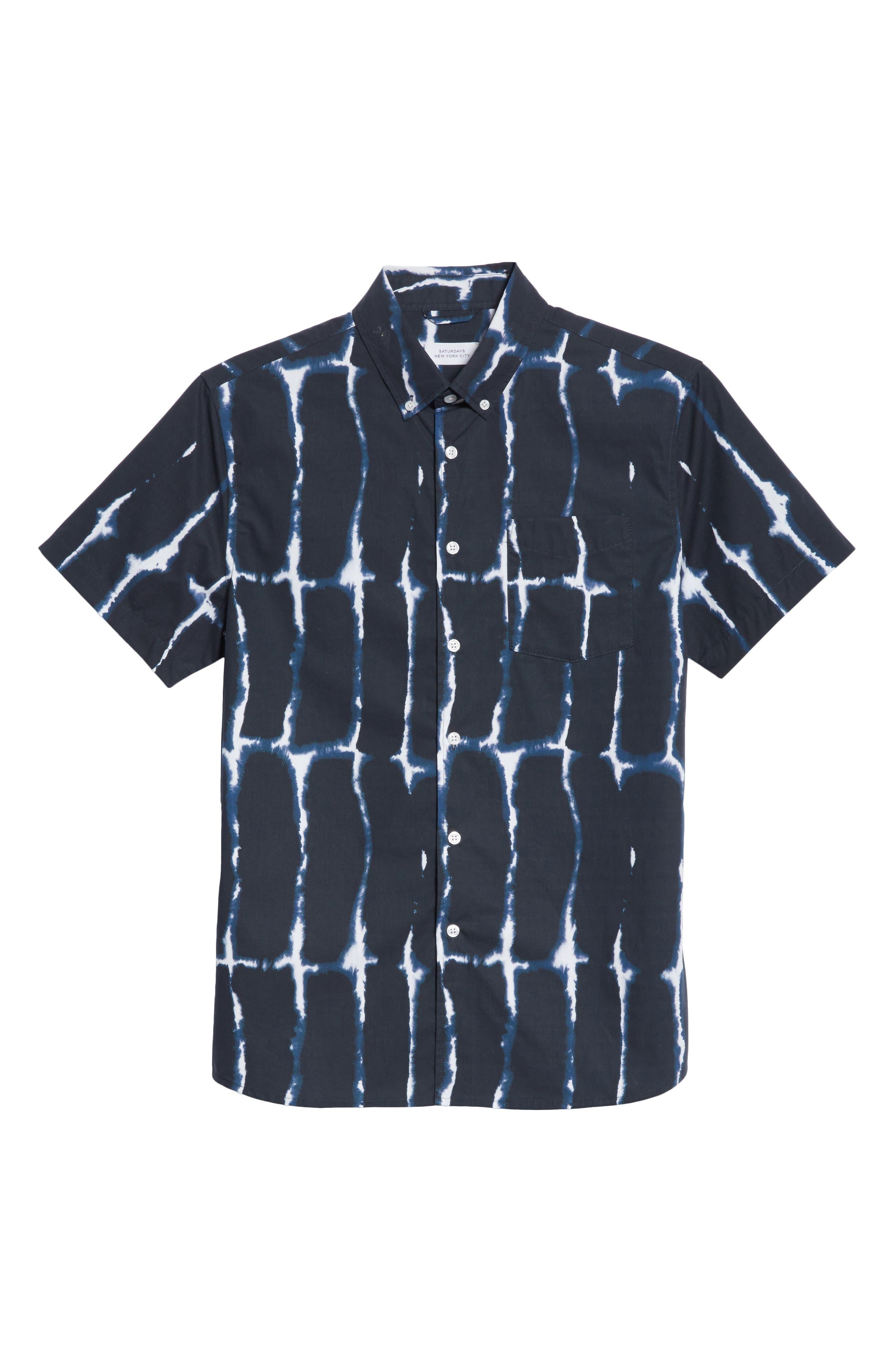 Esquina Print Woven Shirt,                             Alternate thumbnail 6, color,                             401
