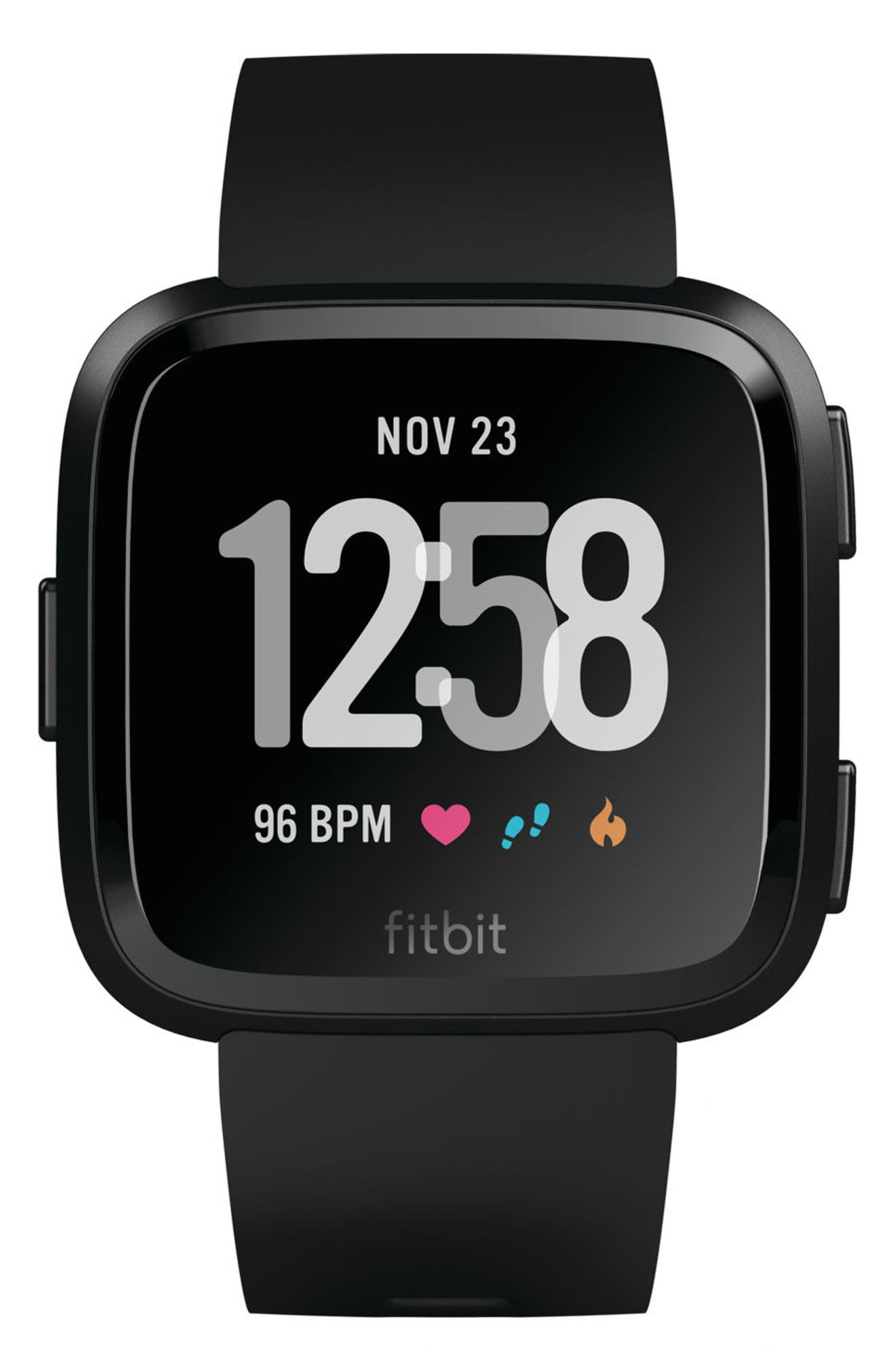 Versa Smart Watch,                             Alternate thumbnail 5, color,                             BLACK / BLACK