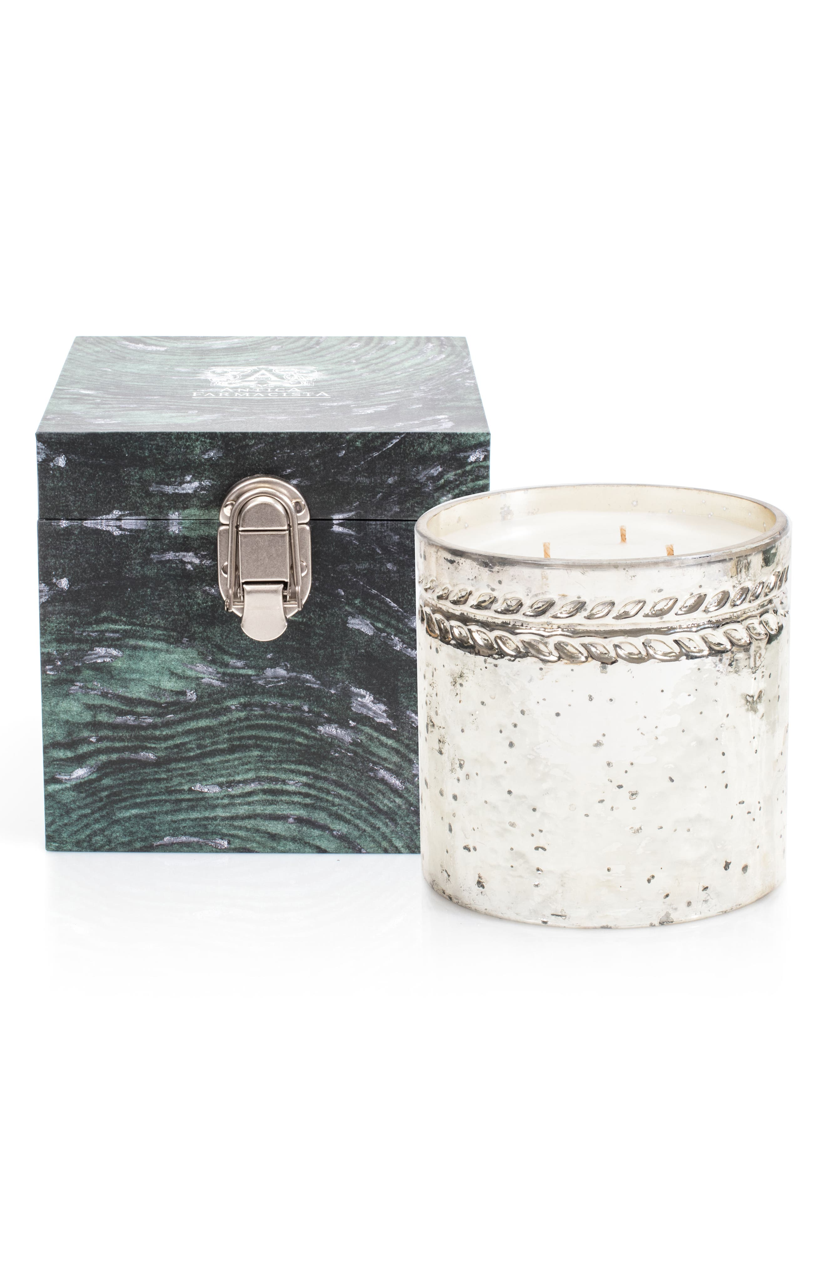 Silver Cedar Three-Wick Candle,                             Alternate thumbnail 2, color,                             000