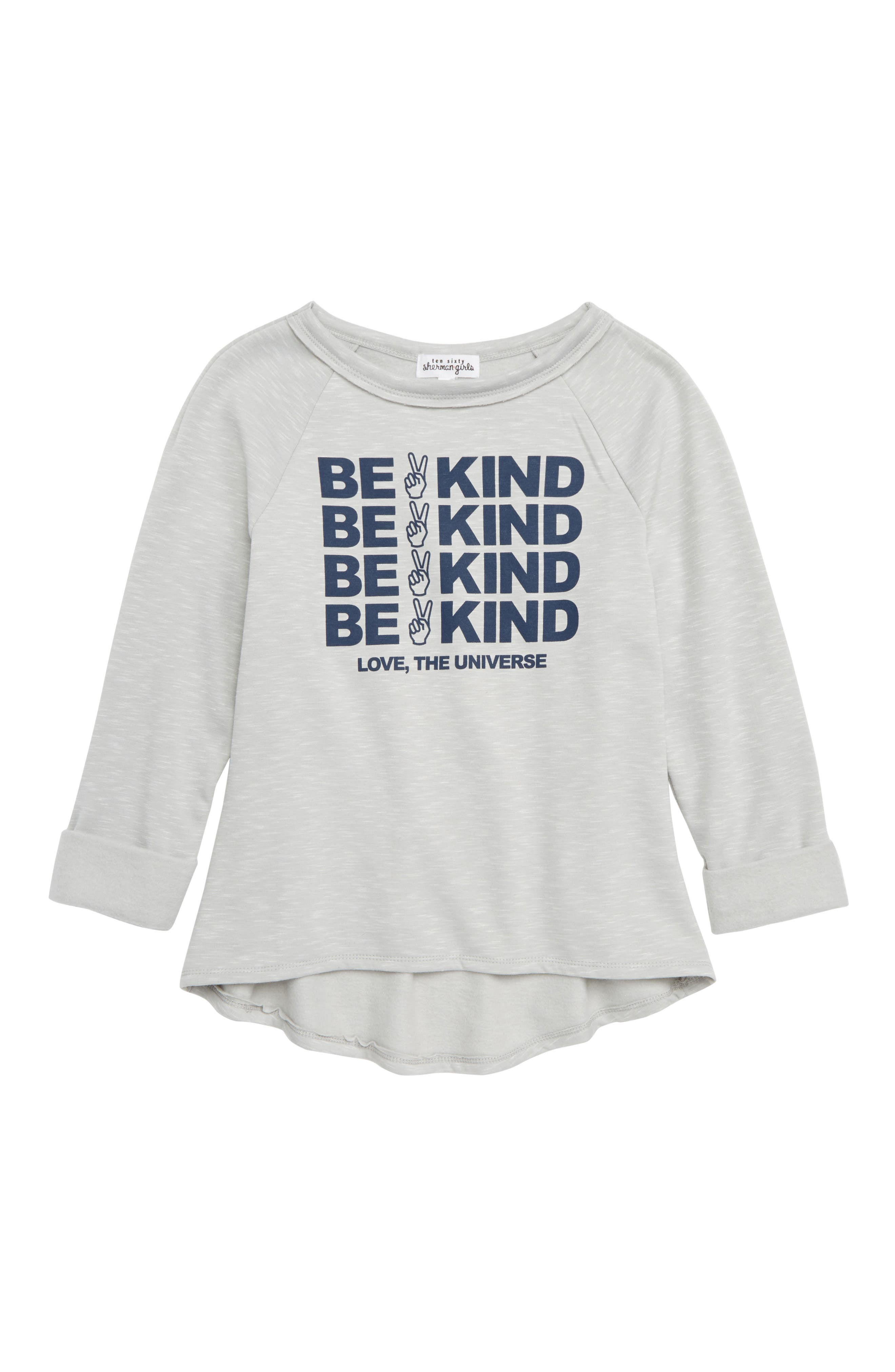 Be Kind Fleece Pullover,                             Main thumbnail 1, color,                             H.GREY