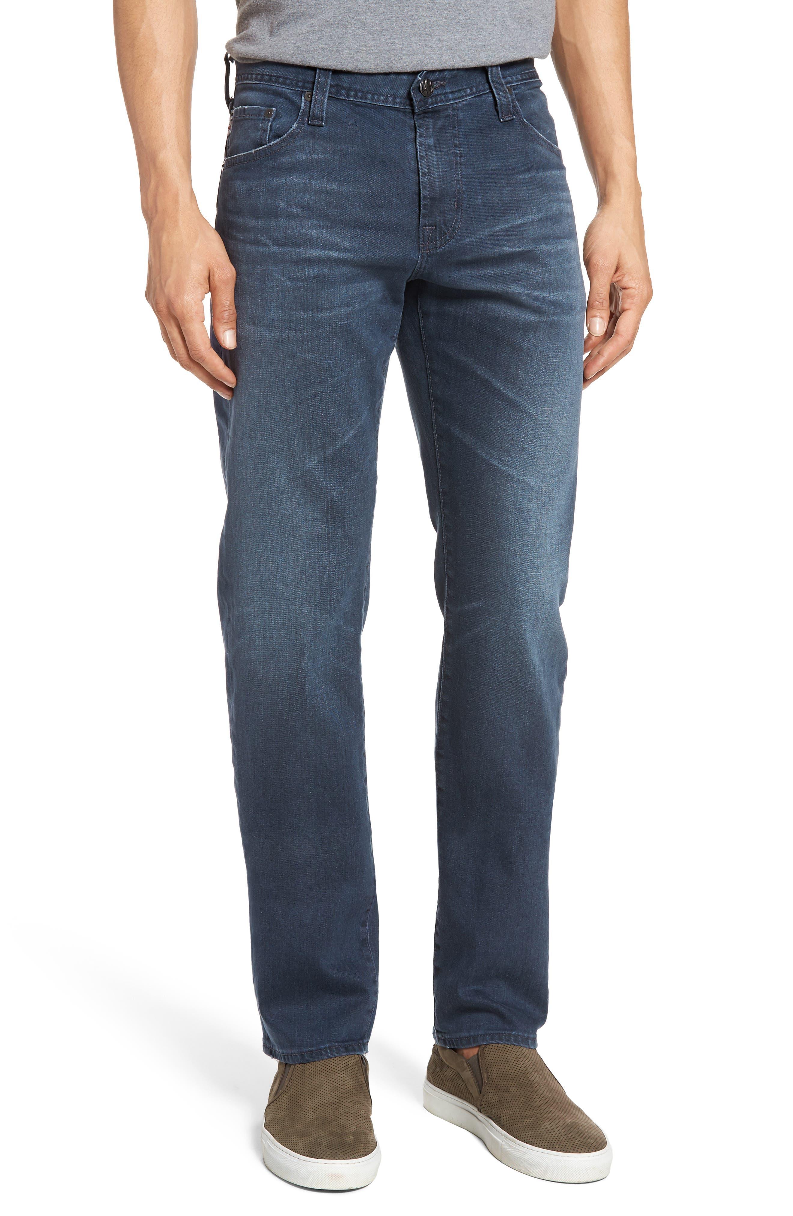 Graduate Slim Straight Leg Jeans,                             Main thumbnail 1, color,                             7 YEARS BLUE PERIL