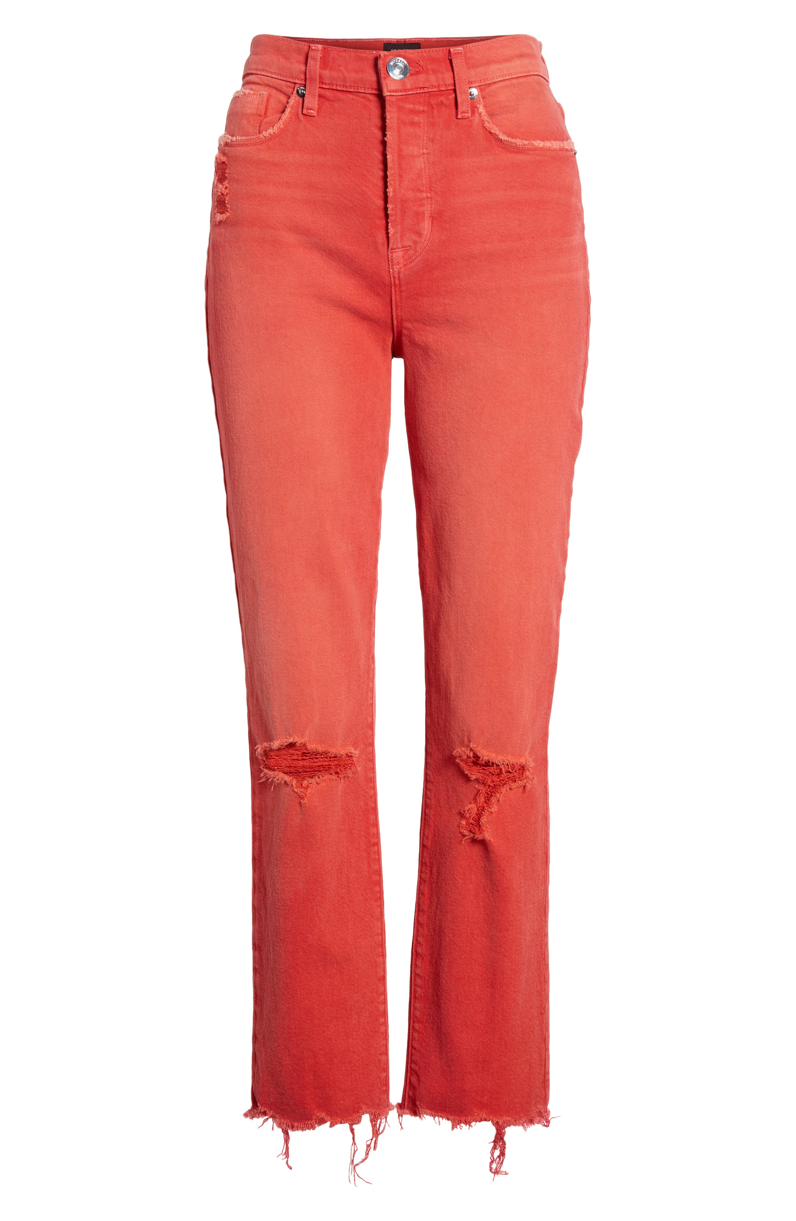 Zoeey Crop Straight Leg Jeans,                             Alternate thumbnail 7, color,                             640